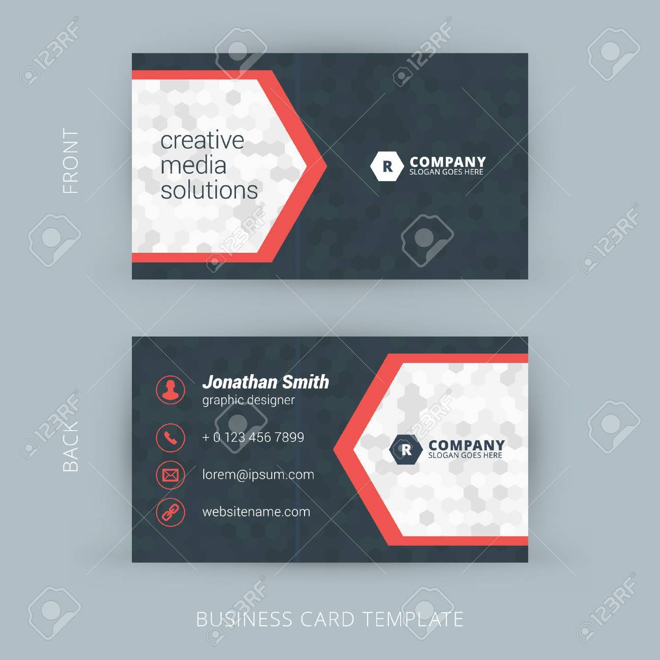 Creative and clean vector business card template royalty free creative and clean vector business card template stock vector 40008776 reheart Images