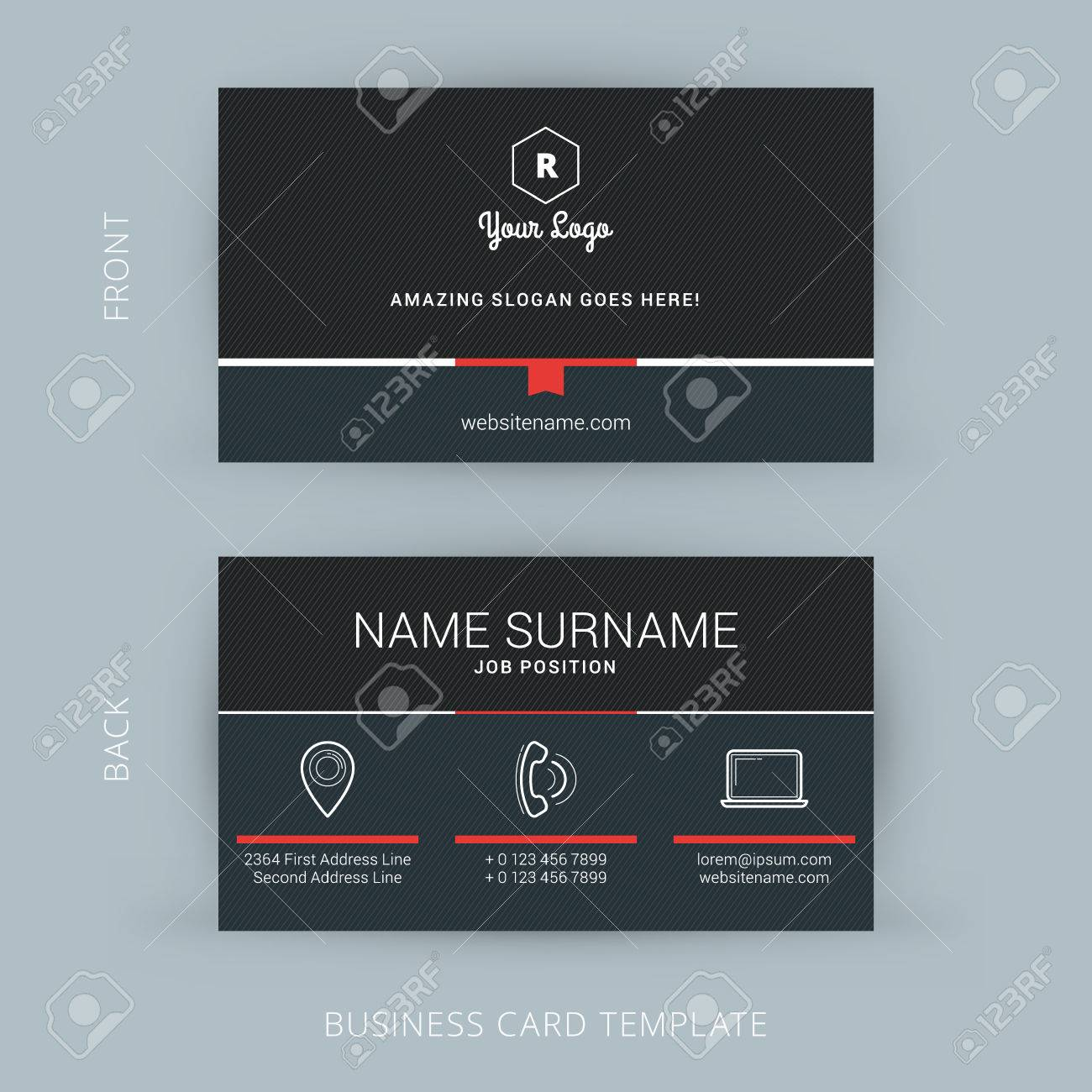 Popular Wallpaper Name Pankaj - 41897860-vector-modern-creative-and-clean-business-card-template  Image_60999.jpg