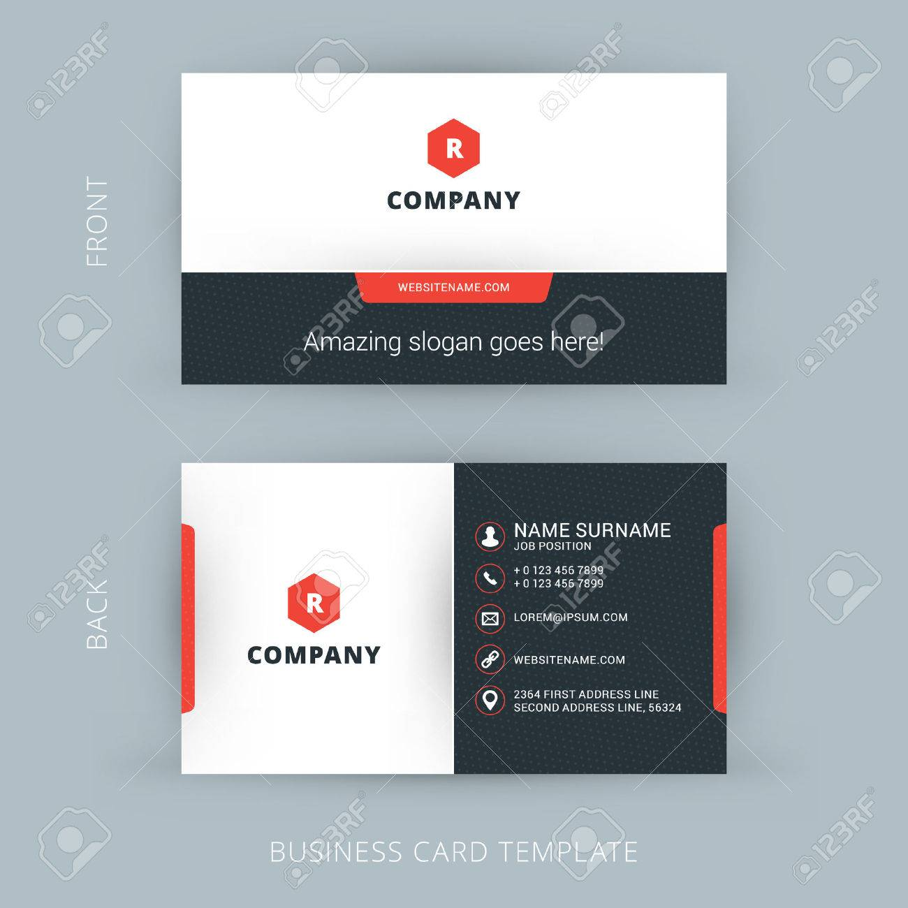 Vector modern creative and clean business card template royalty free vector vector modern creative and clean business card template colourmoves