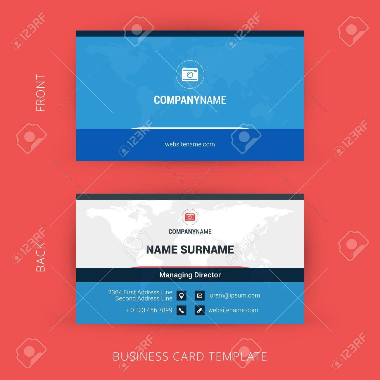 Modle De Carte Visite Creative Et Propre D