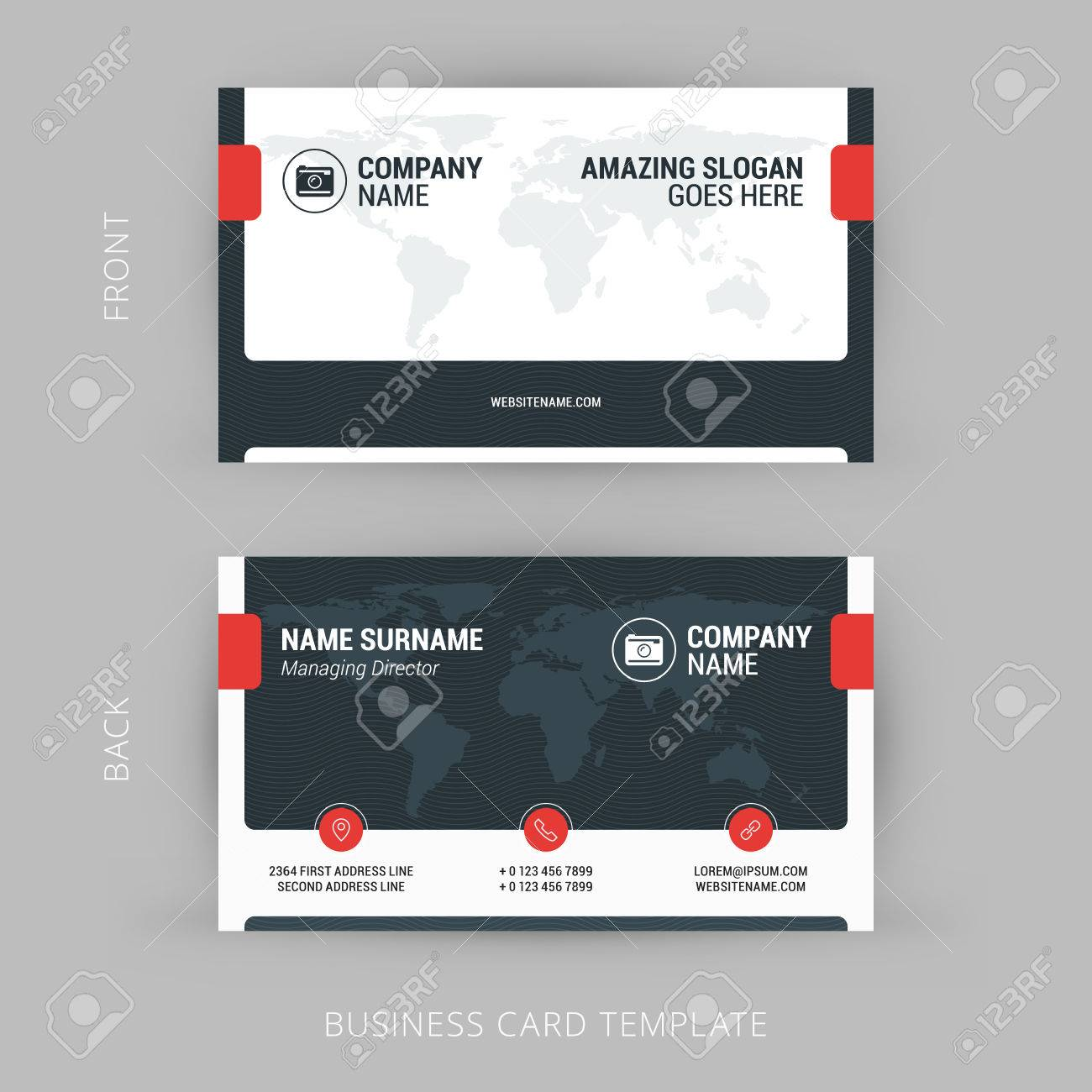 Creative And Clean Business Card Template. Corporate Business ...