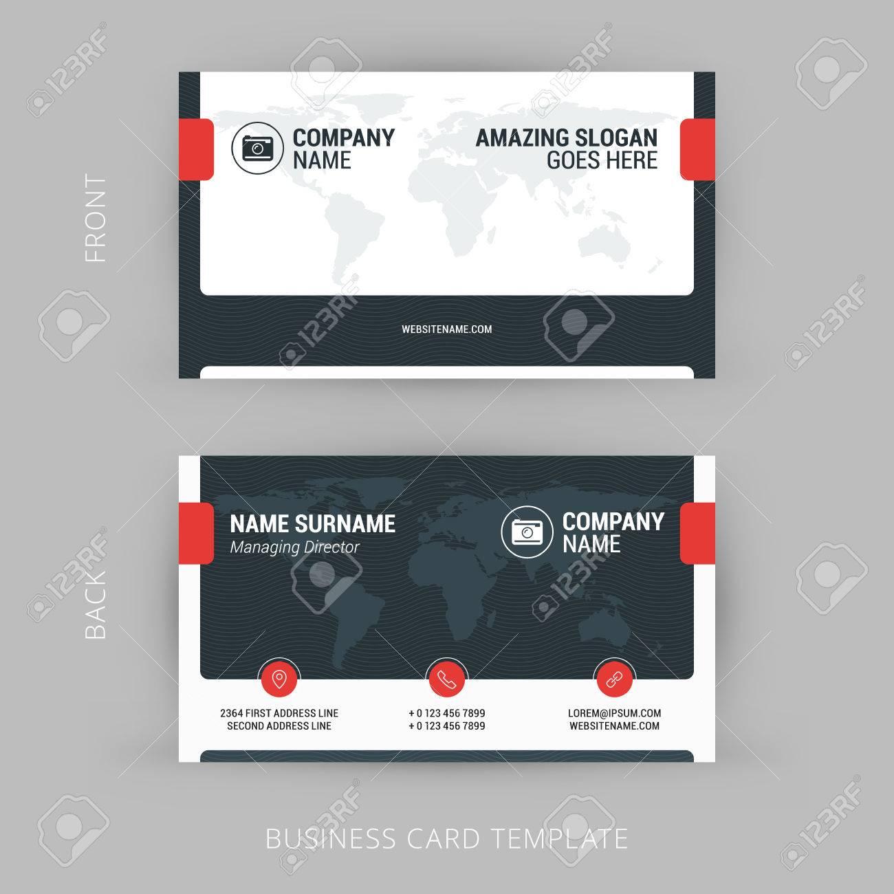 Modele De Carte Visite Creative Et Propre D
