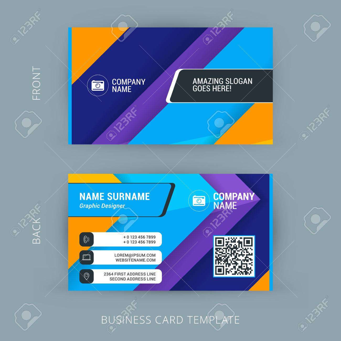 Geographics Business Cards Templates