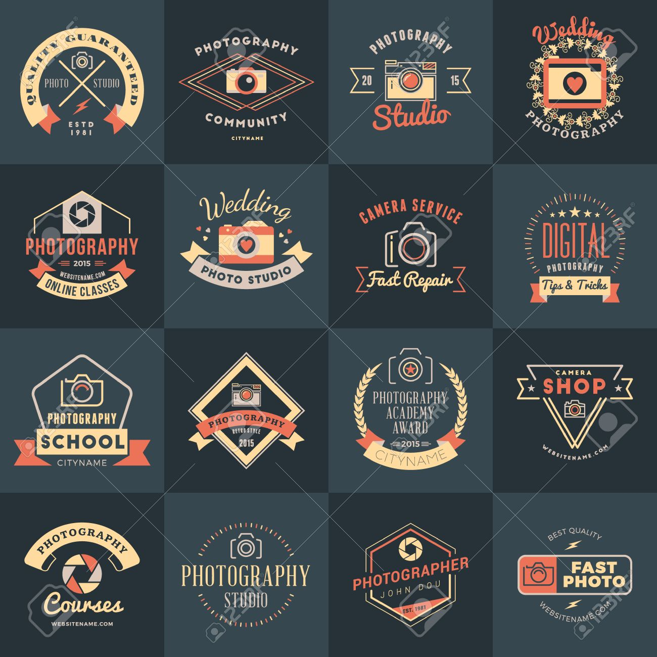 Vector Set Of Photography Logo Design Templates Photography Royalty Free Cliparts Vectors And Stock Illustration Image 45323812