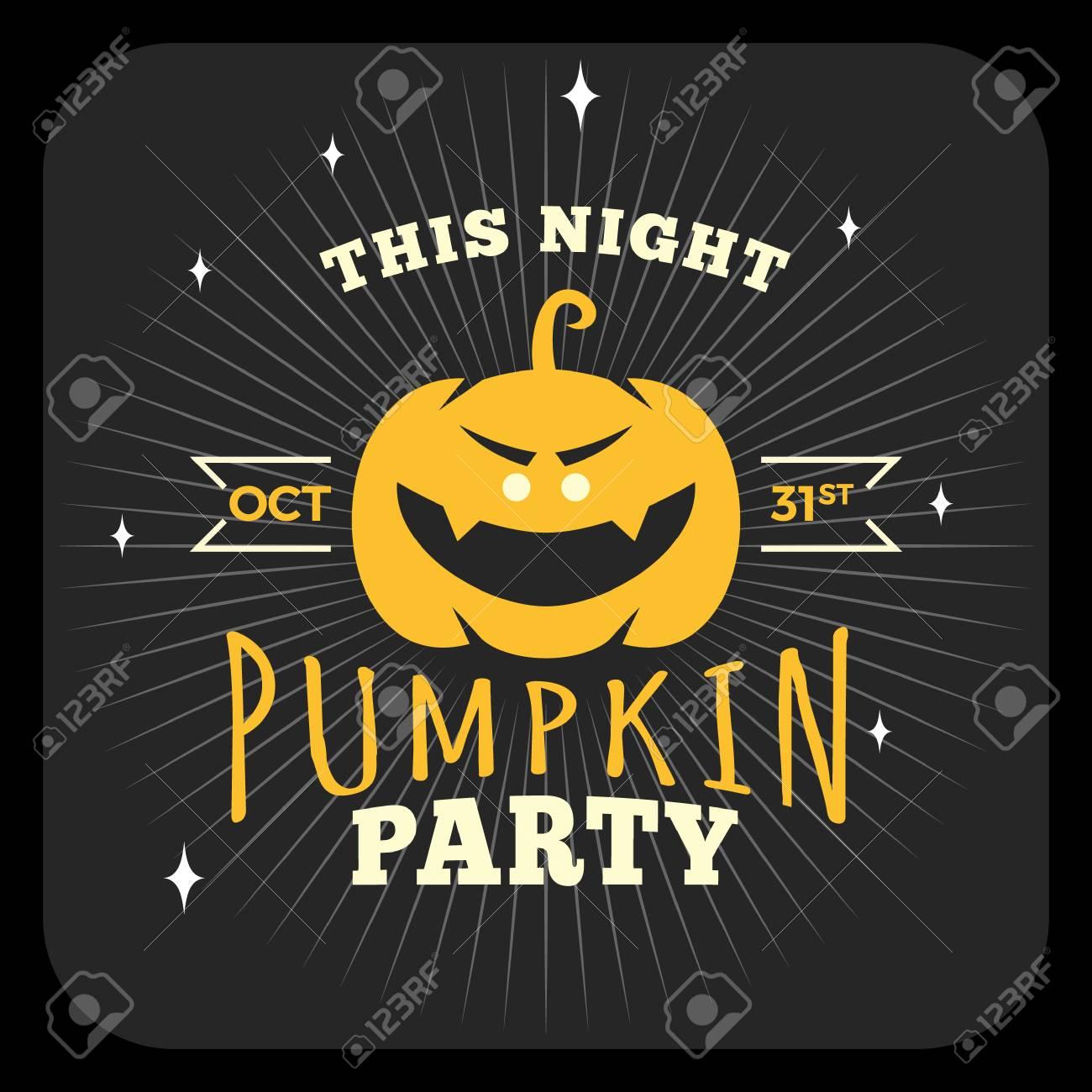 Retro Vintage Happy Halloween Badge. Night Party. Vector Illustration Stock  Vector   45858655