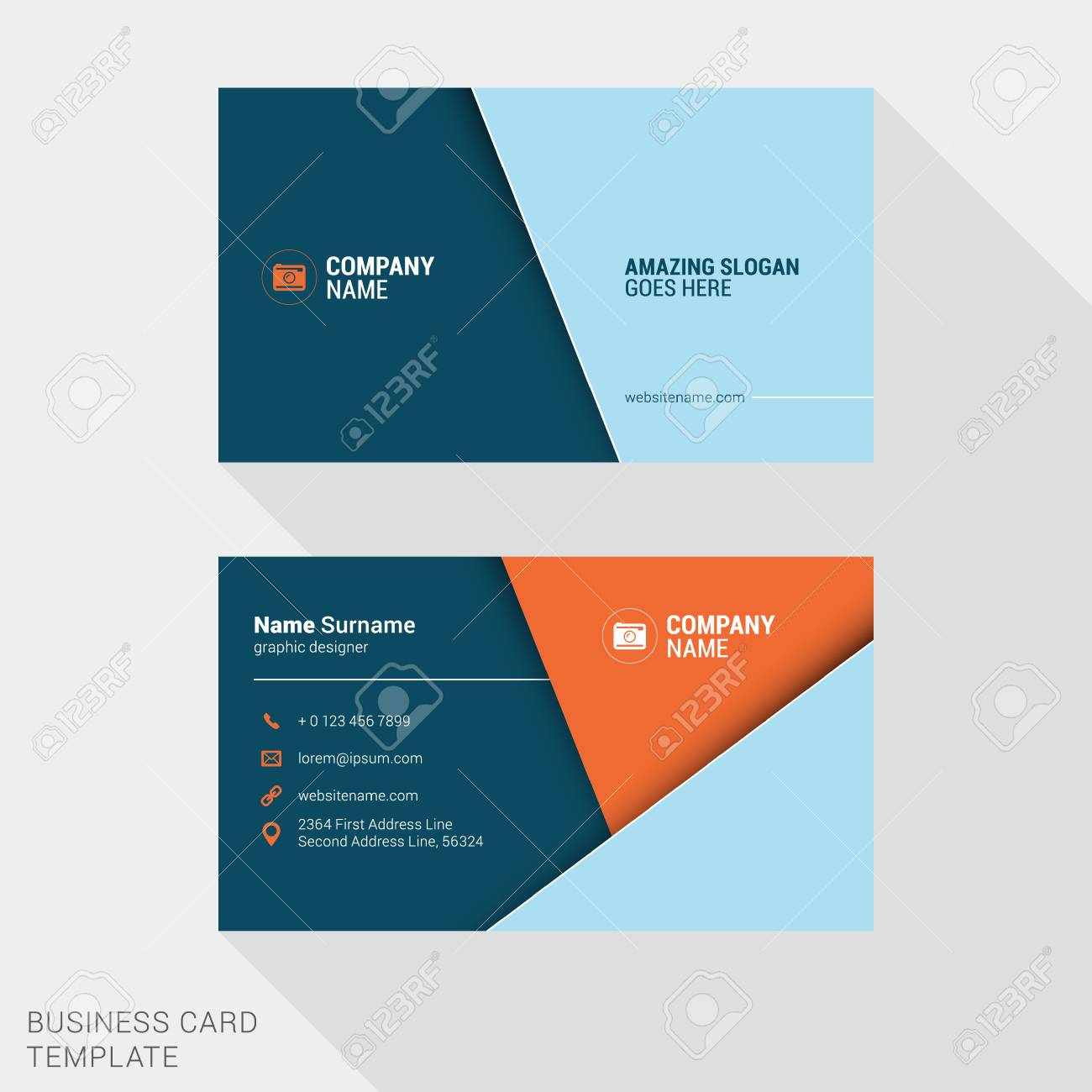 Vector Design Modern Creative And Clean Business Card Template ...