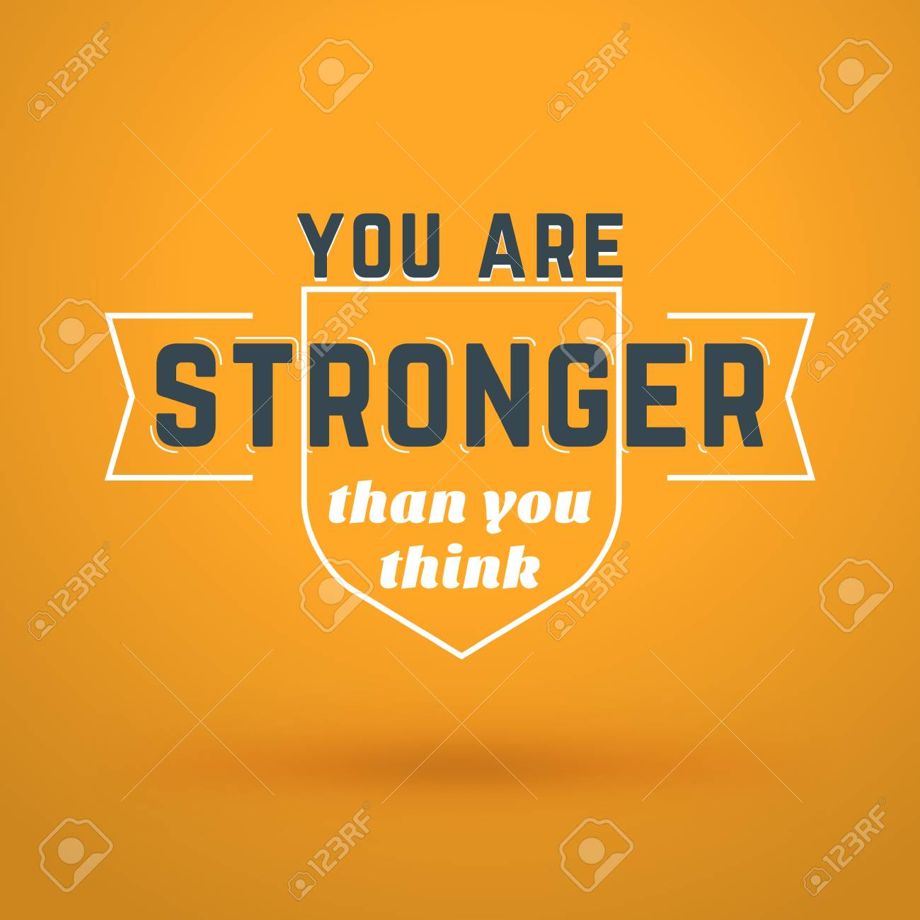 Motivational Typographic Quote You Are Stronger Than You Think