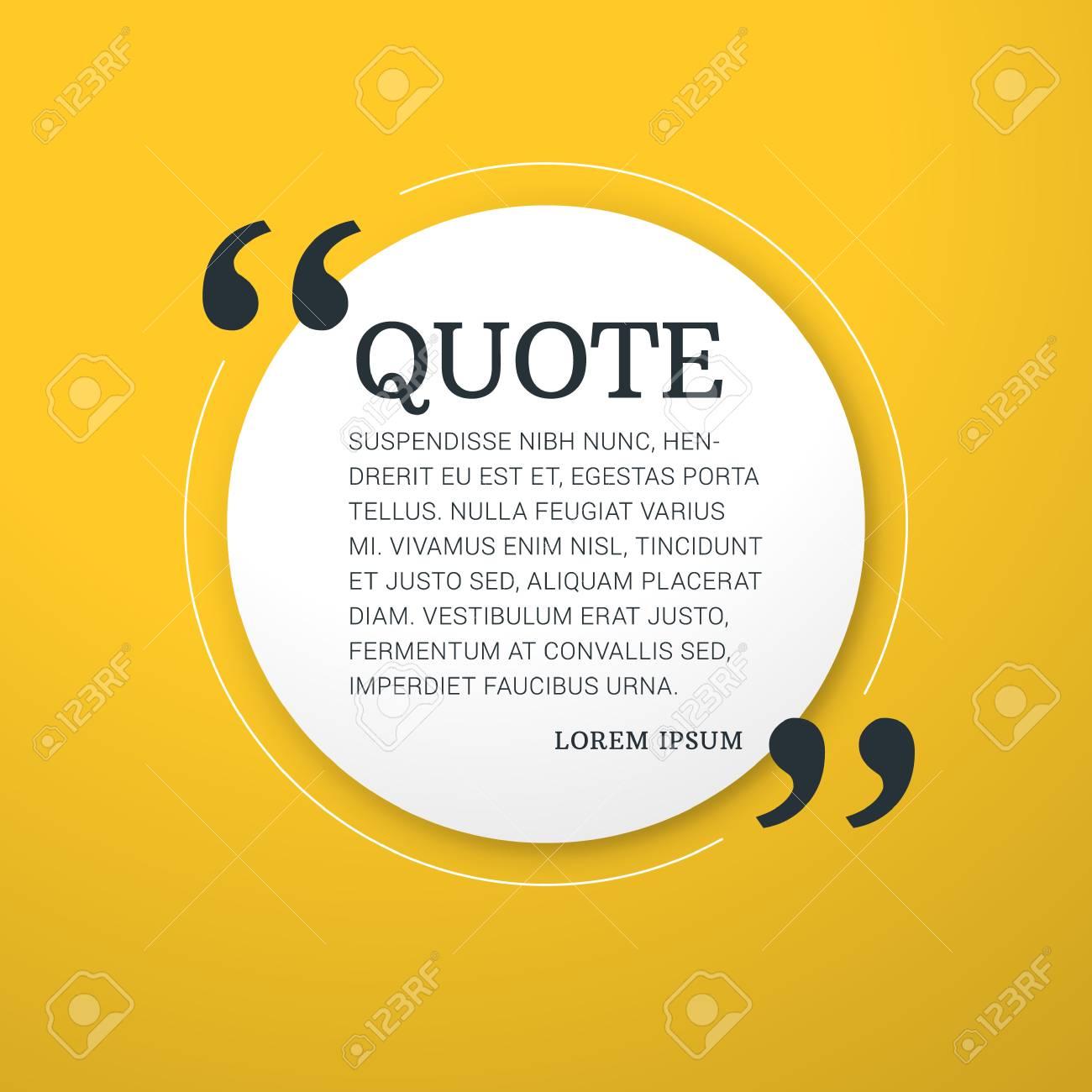 quote blank vector design template vector typographic background
