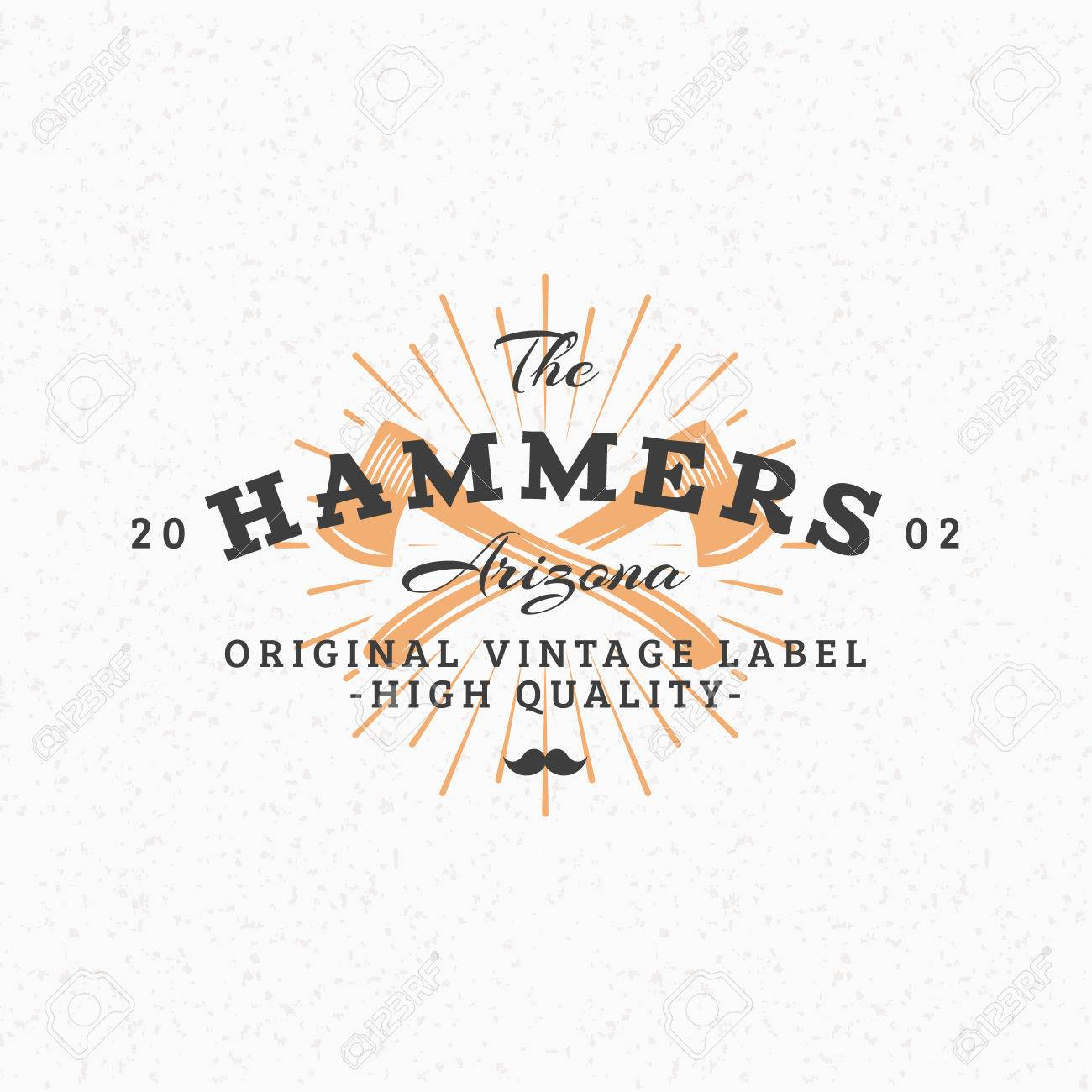 Crossed axes vintage retro design elements for insignia badge vintage retro design elements for insignia badge label business sign maxwellsz