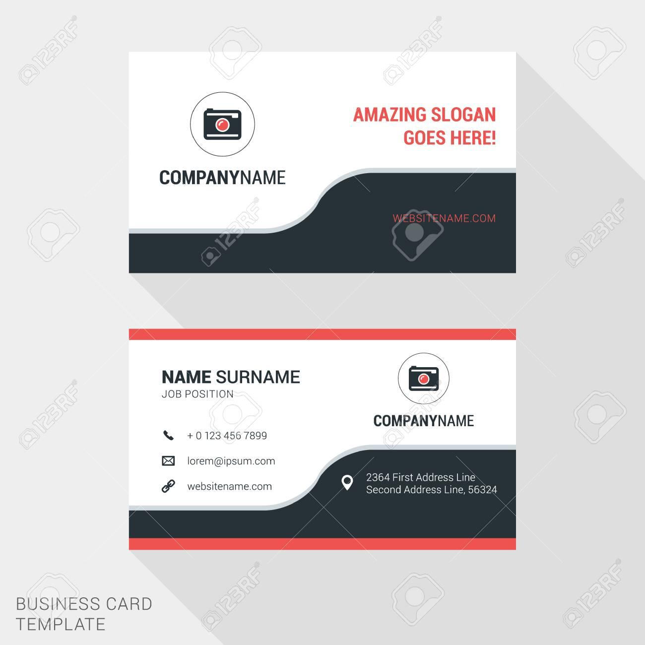 Creative business card print template flat design vector creative business card print template flat design vector illustration stationery design stock vector colourmoves