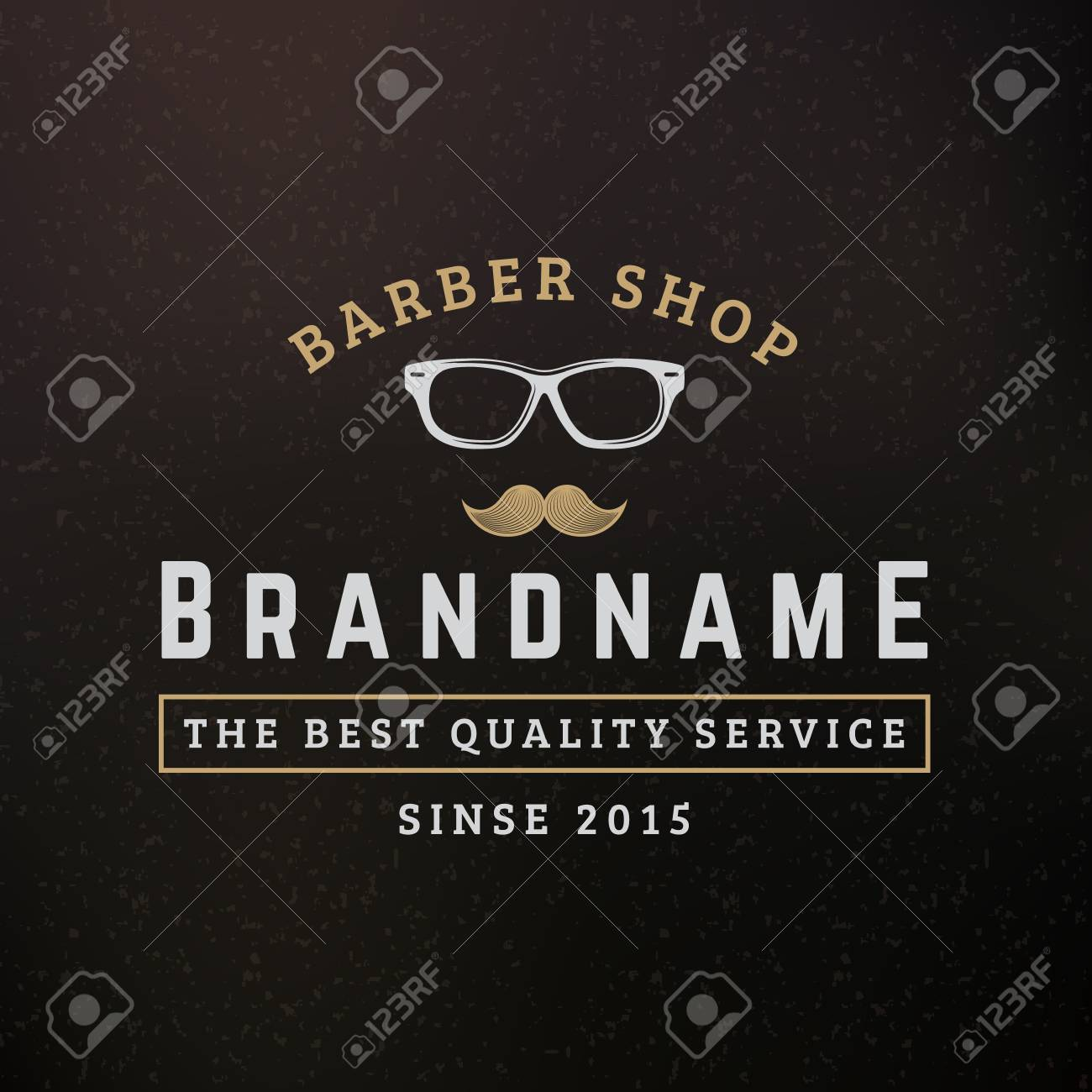 Hipster Glasses And Mustache. Vintage Retro Design Elements For ...