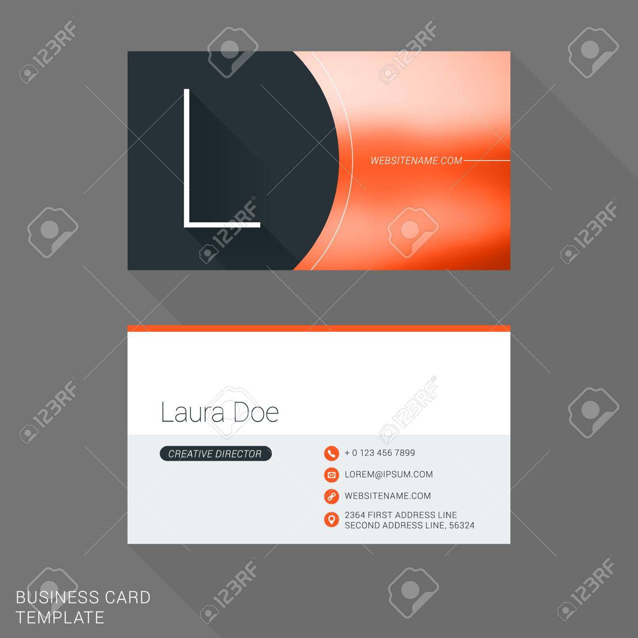 Creative business card template letter l flat design vector creative business card template letter l flat design vector illustration stationery design stock reheart Gallery