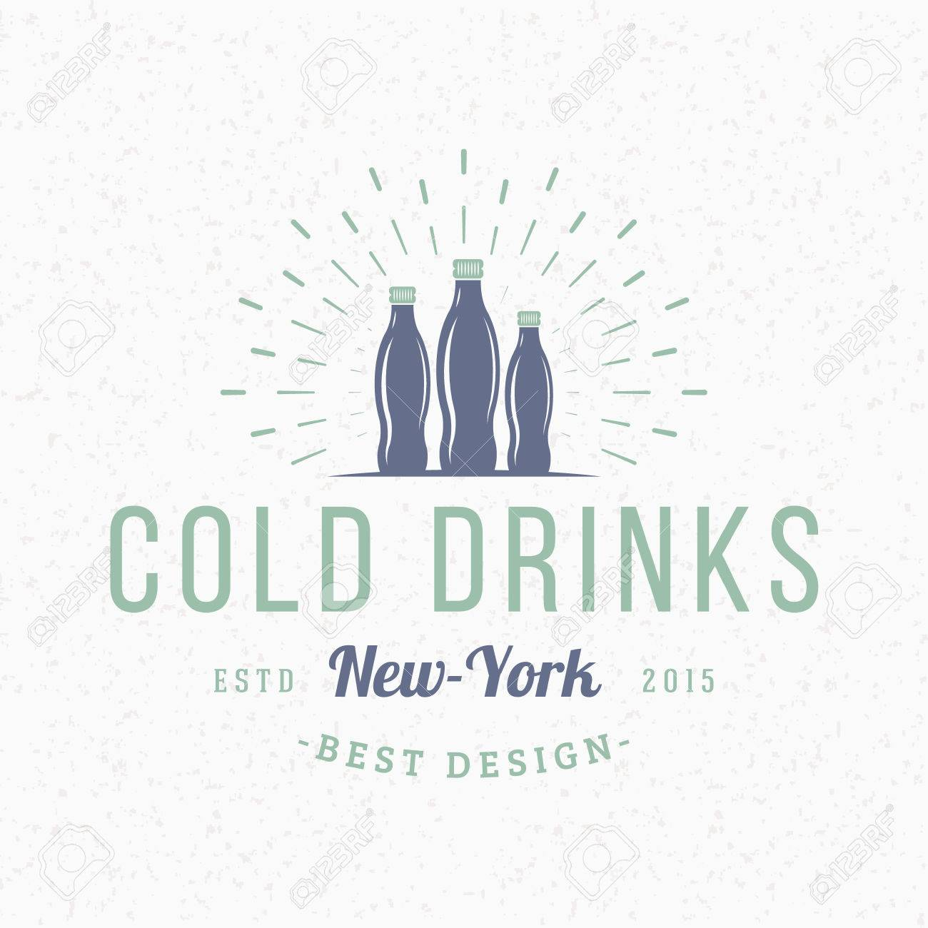 Cold drinks vintage retro design elements for logotype insignia business sign template textured background cold drinks vintage retro design elements for logotype insignia badge label pronofoot35fo Gallery
