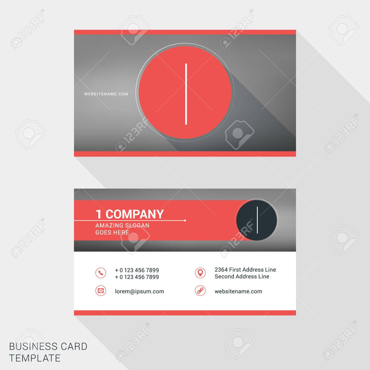 Creative and clean business card or name badge template logotype creative and clean business card or name badge template logotype number 1 flat design accmission Gallery
