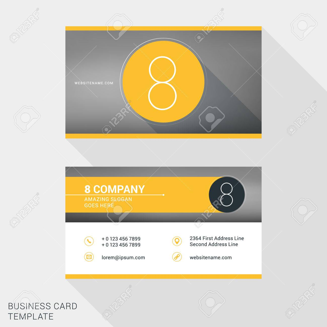 creative and clean business card or name badge template number