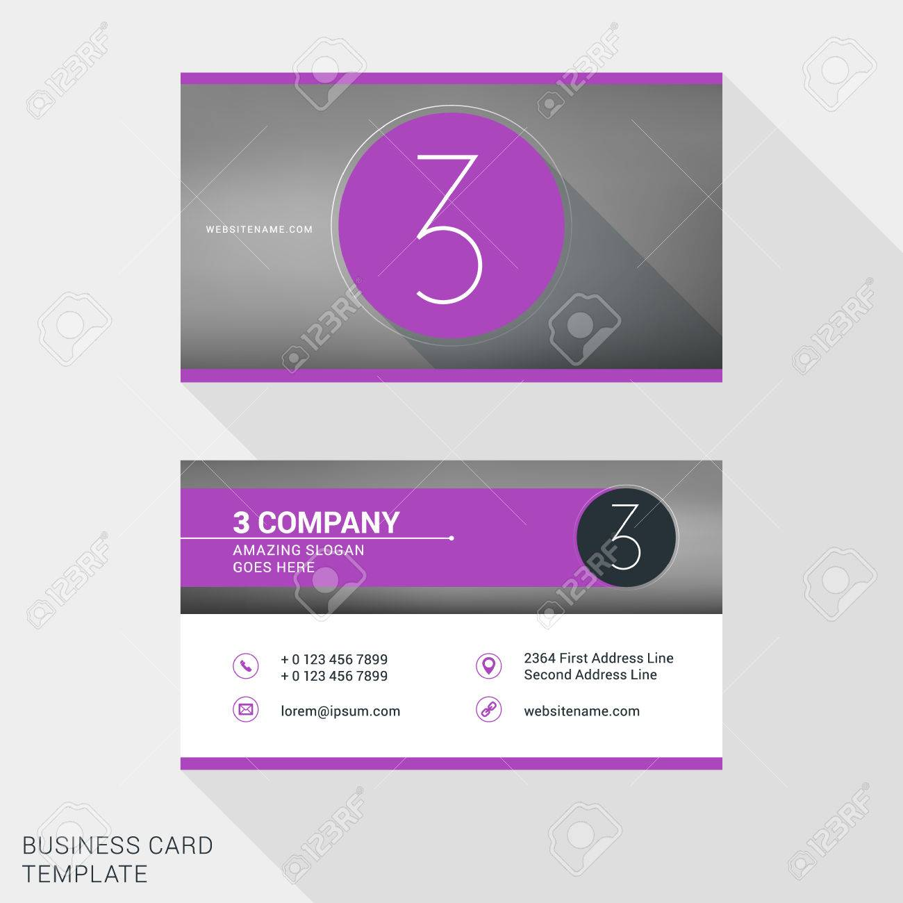 Creative and clean business card or name badge template number creative and clean business card or name badge template number 3 flat design vector accmission Images