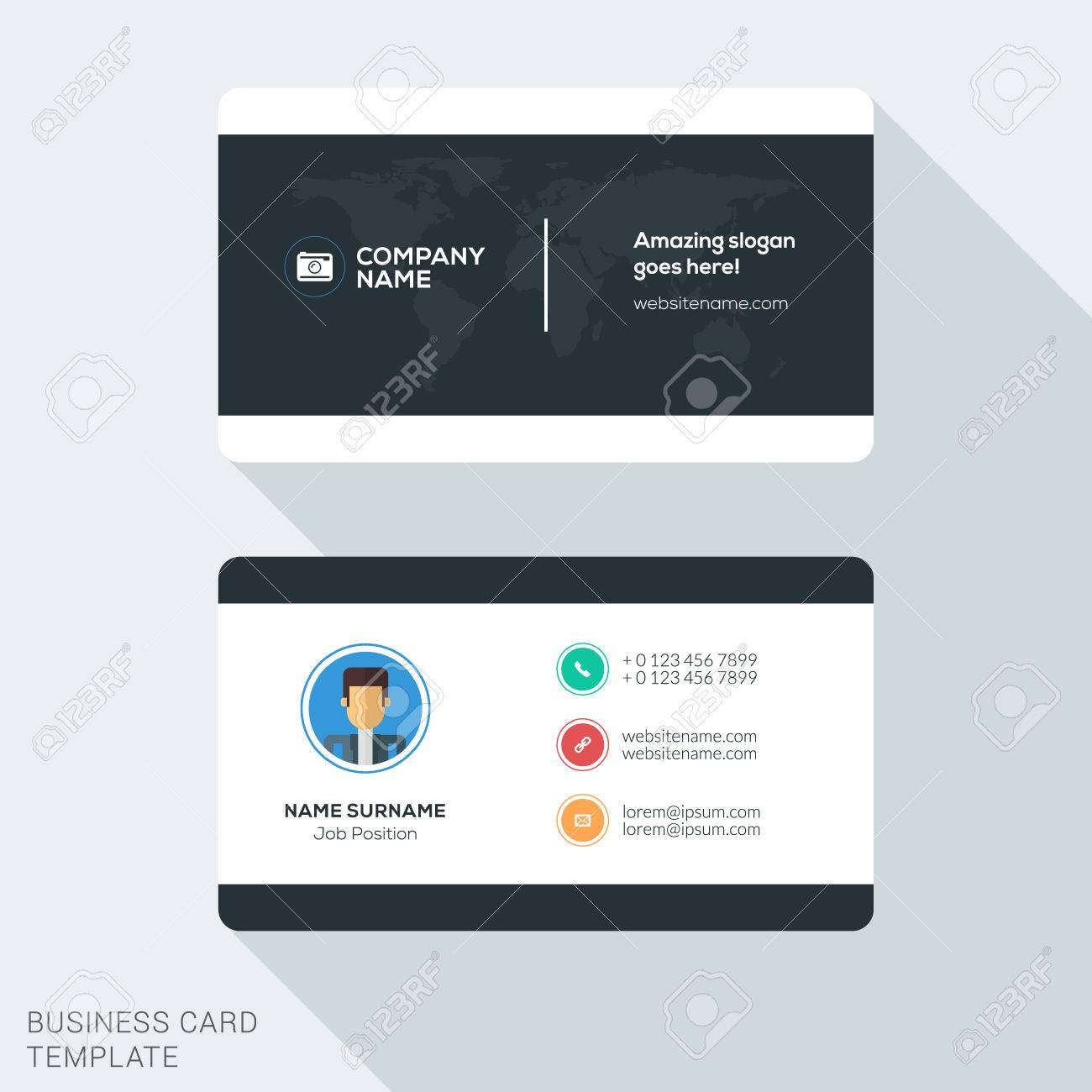 Creative and clean business card template flat design vector creative and clean business card template flat design vector illustration stationery design stock vector colourmoves
