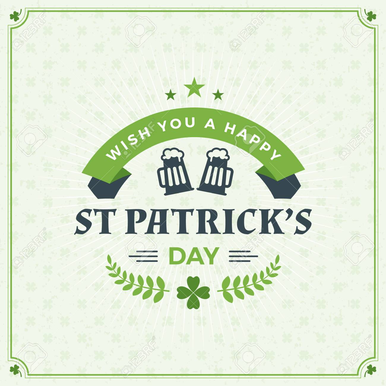 St patricks day vintage holiday badge design vector greetings st patricks day vintage holiday badge design vector greetings card design saint patricks m4hsunfo