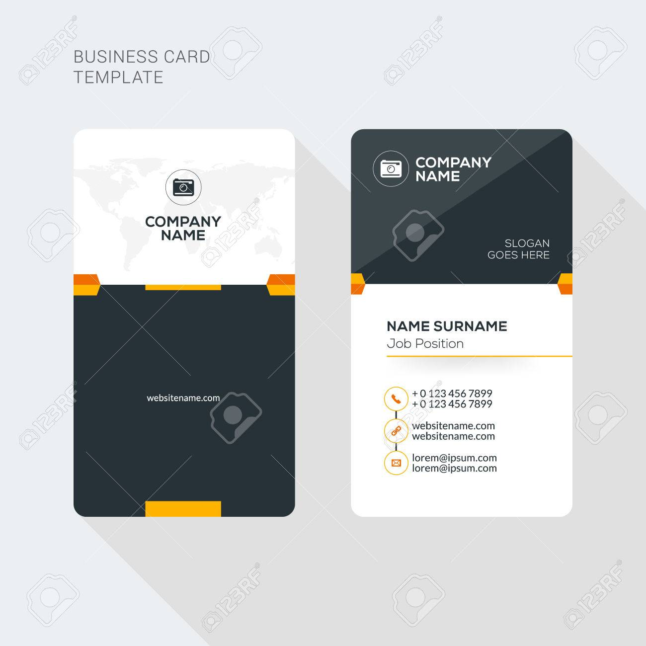 Creative and clean business card vector print template vertical creative and clean business card vector print template vertical business card template flat style flashek Gallery