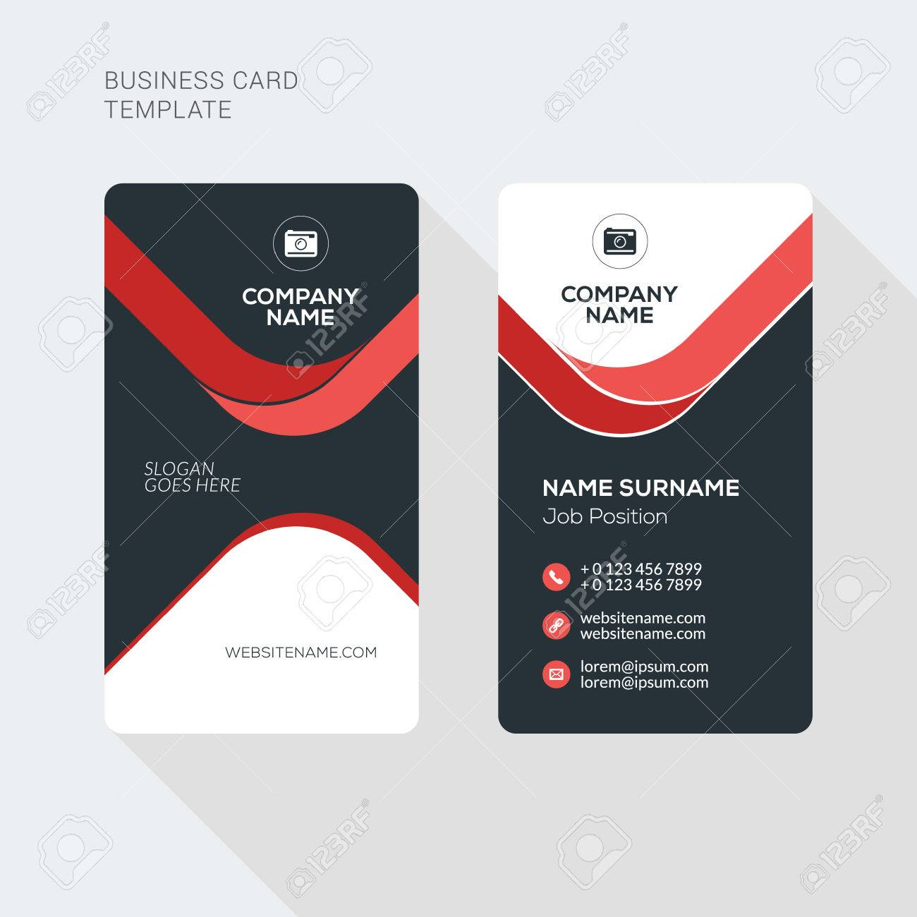Creative and clean business card vector print template vertical creative and clean business card vector print template vertical business card template flat style cheaphphosting Gallery