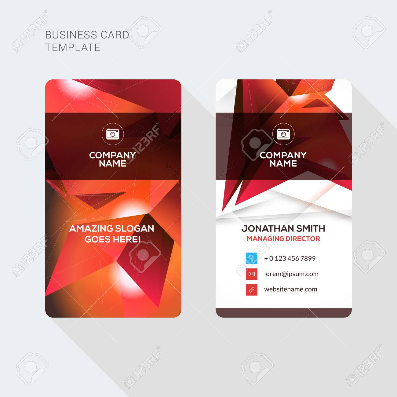 Creative and clean business card vector print template vertical creative and clean business card vector print template vertical business card template flat style fbccfo Gallery