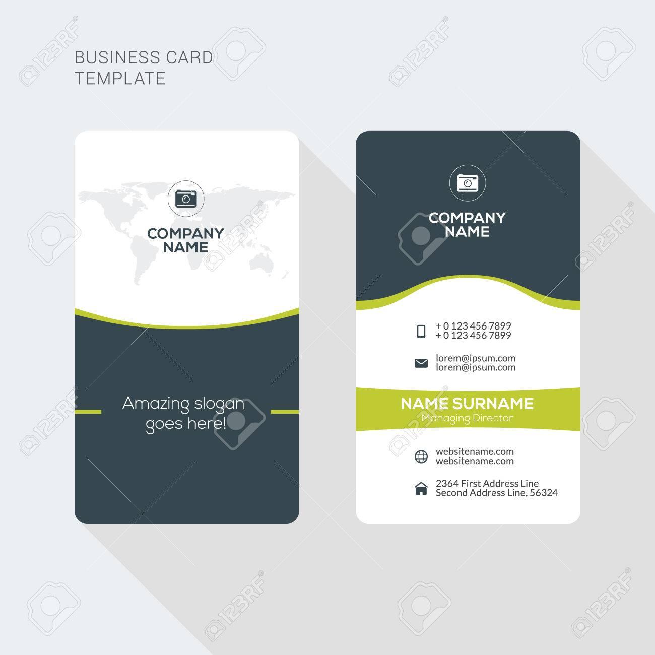 Moderne Kreative Und Saubere Zwei Doppelseitige Visitenkarte Vorlage ...