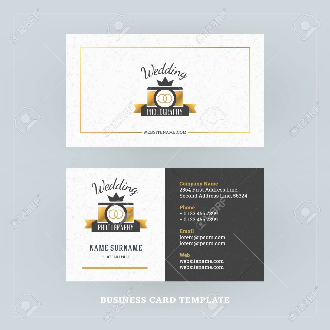 Golden and black business card design template business card golden and black business card design template business card for photographer or graphic designer colourmoves