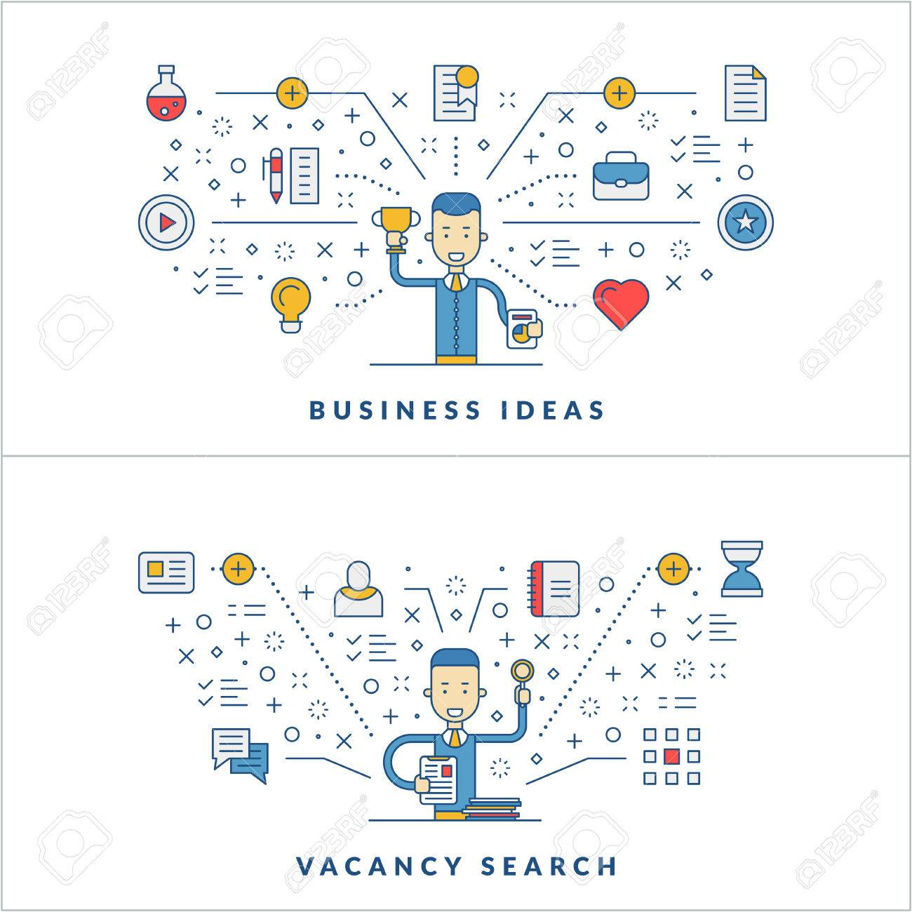 Business ideas  Vacancy search  Web design  Social media  Flat