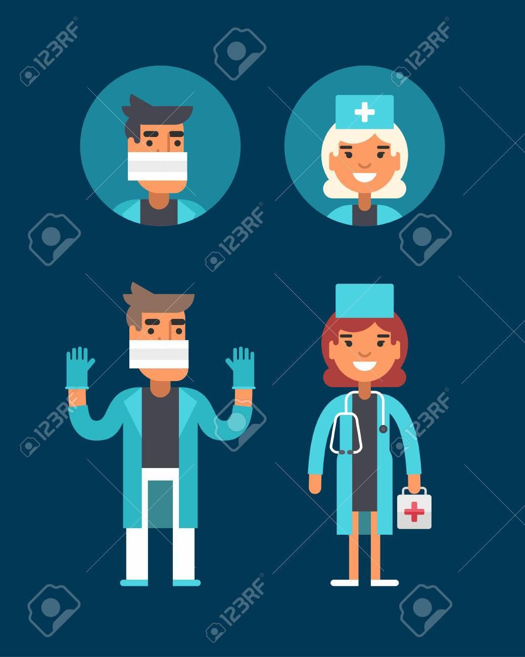 Medizin Konzept Arzt Chirurg Notarzt Männliche Und Weibliche