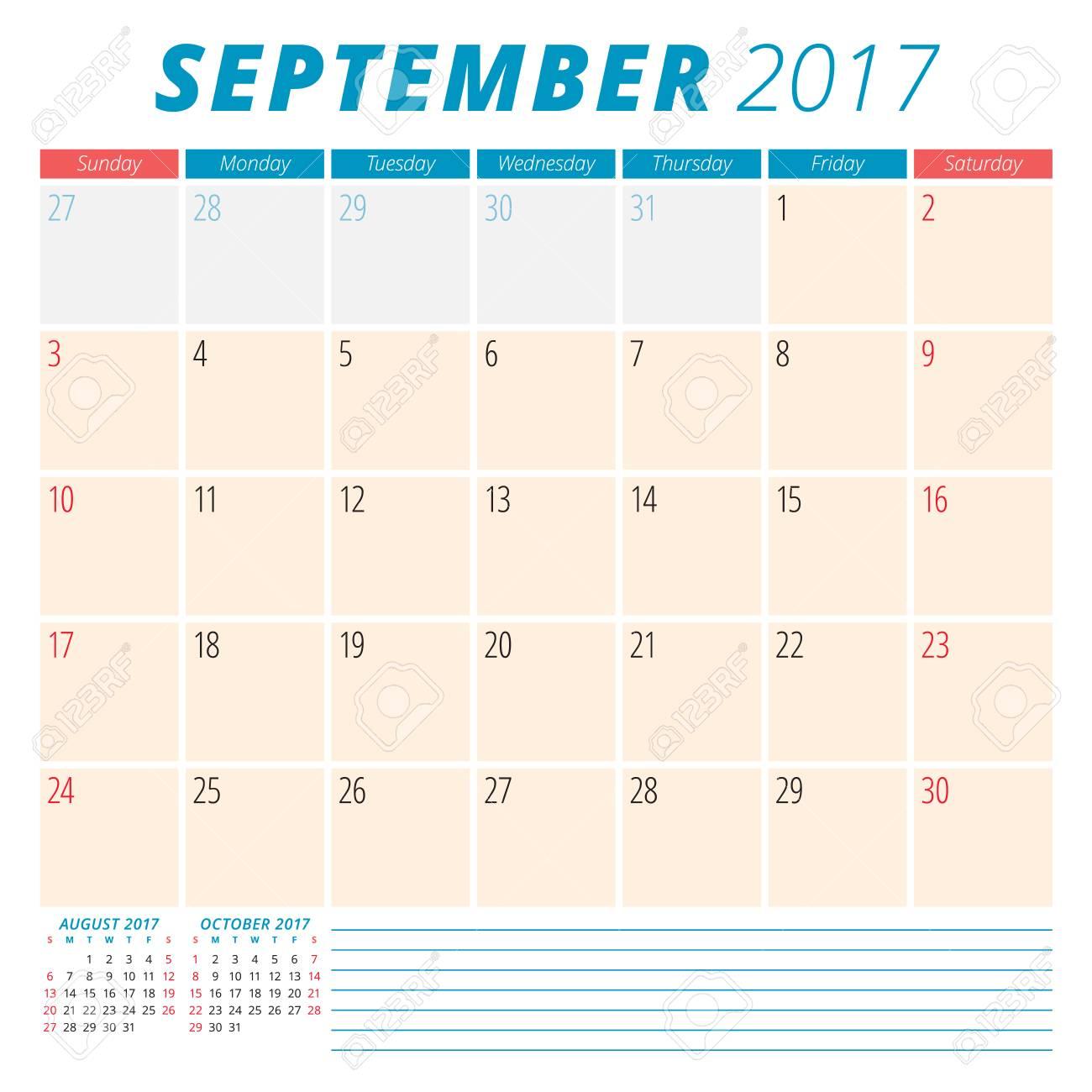 Calendario Anno 2017.Gennaio 2017 Calendario Planner Per Il 2017 Anno Settimana Inizia Domenica Cancelleria Design 3 Mesi Nella Pagina Vector Calendar Template