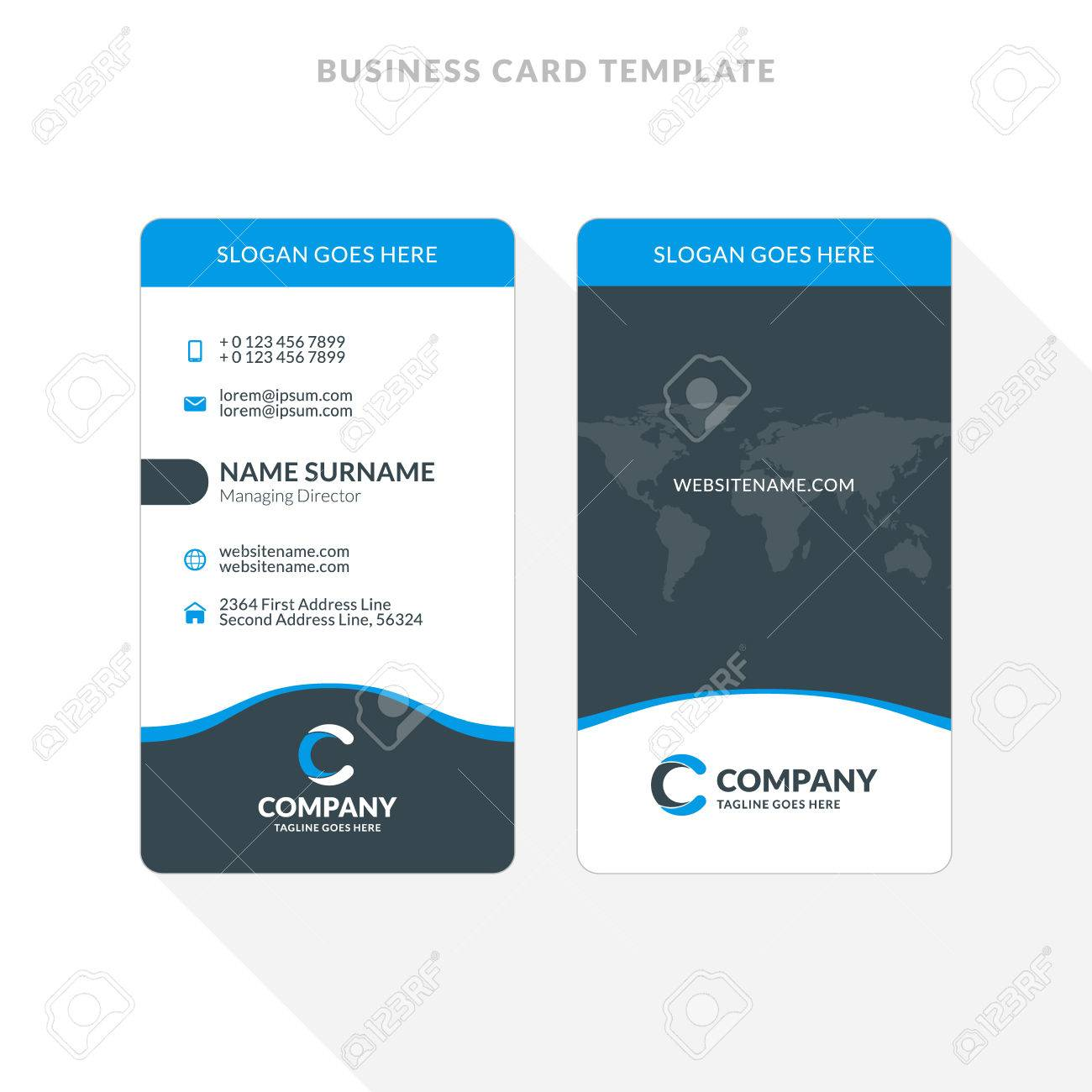 Two Sided Business Card Template Word - mandegar.info