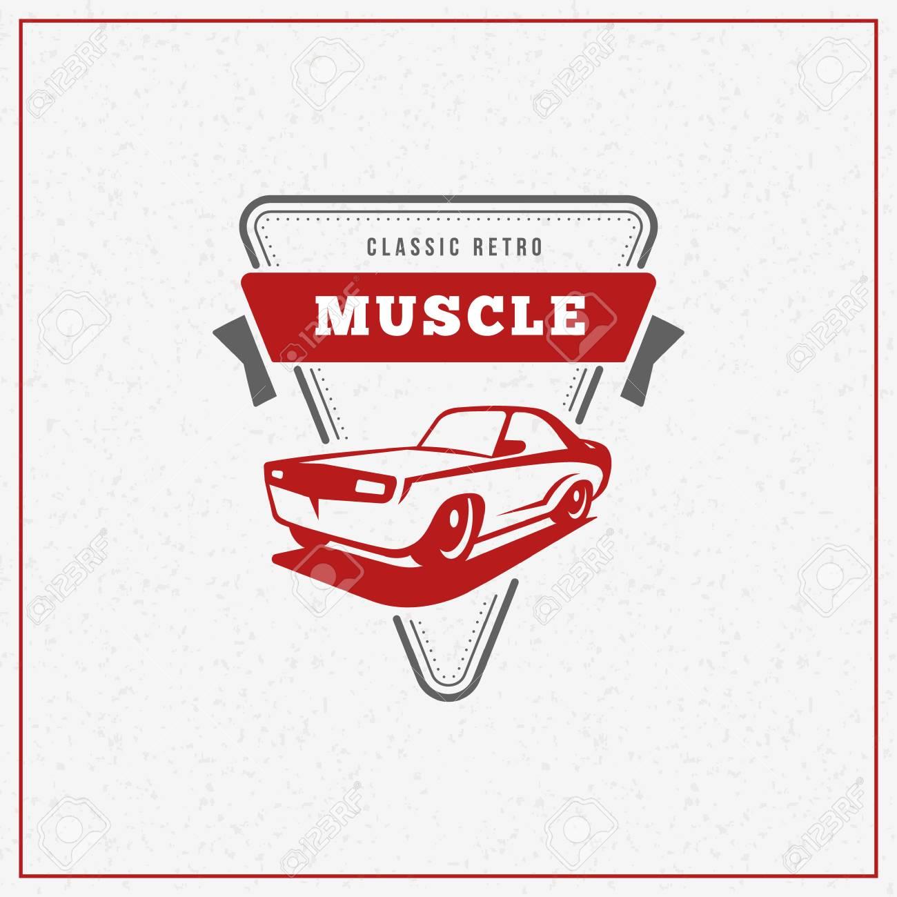 Classic Car Logo Emblem Badge Service Car Repair Car Restoration