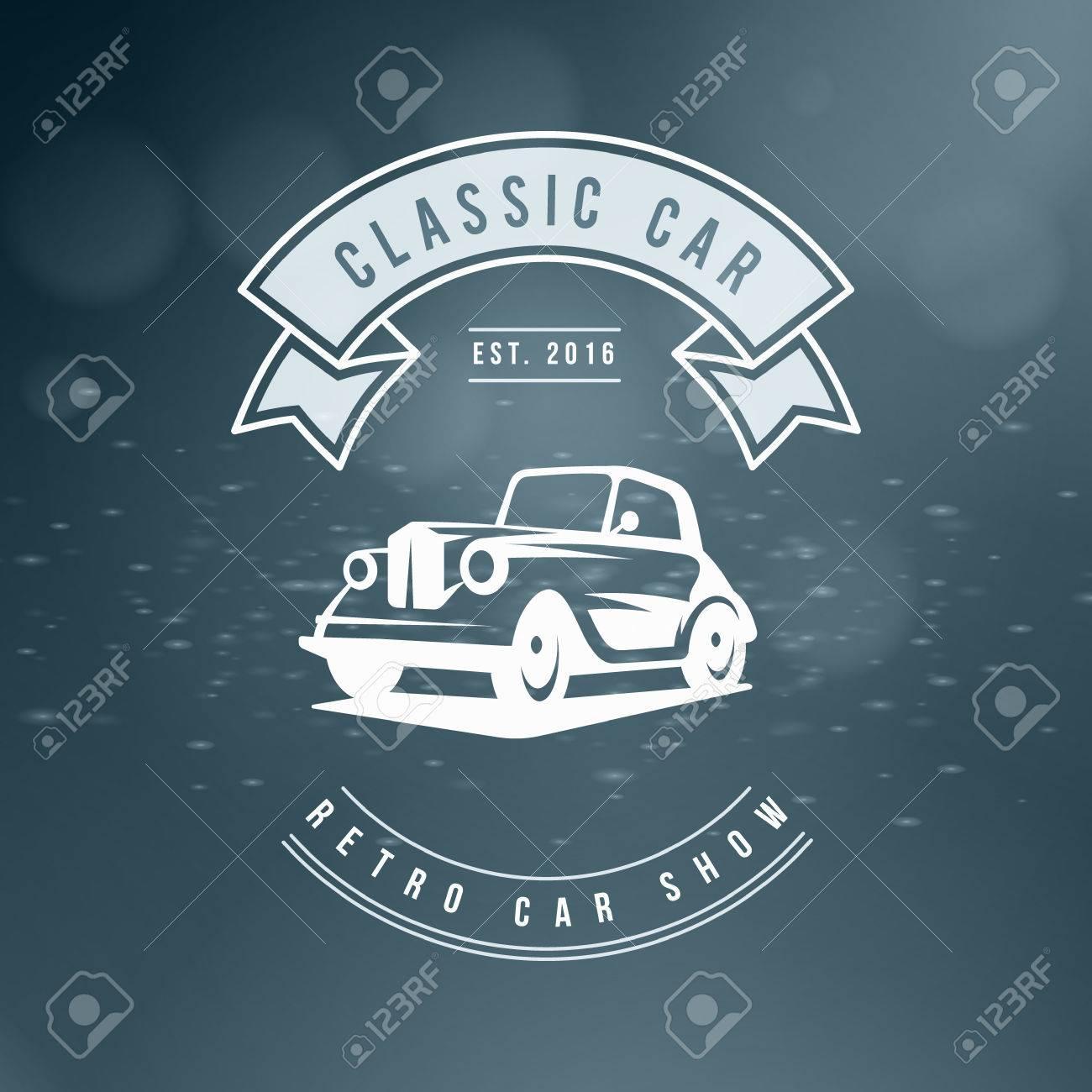 Classic Car Logo, Emblem, Badge. Service Car Repair, Racing Emblem ...