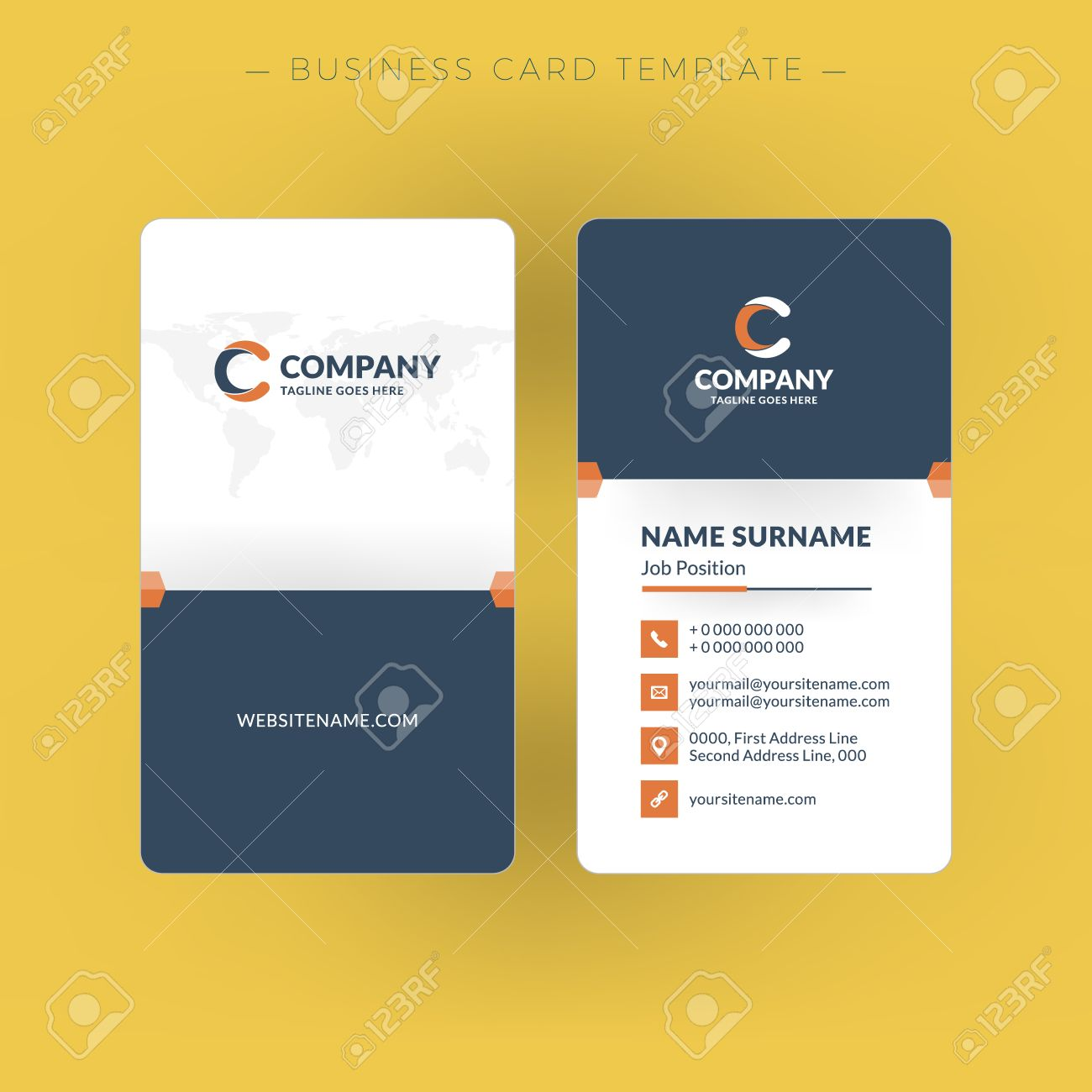 Vertical business card template word zrom template vertical business card template flashek Images