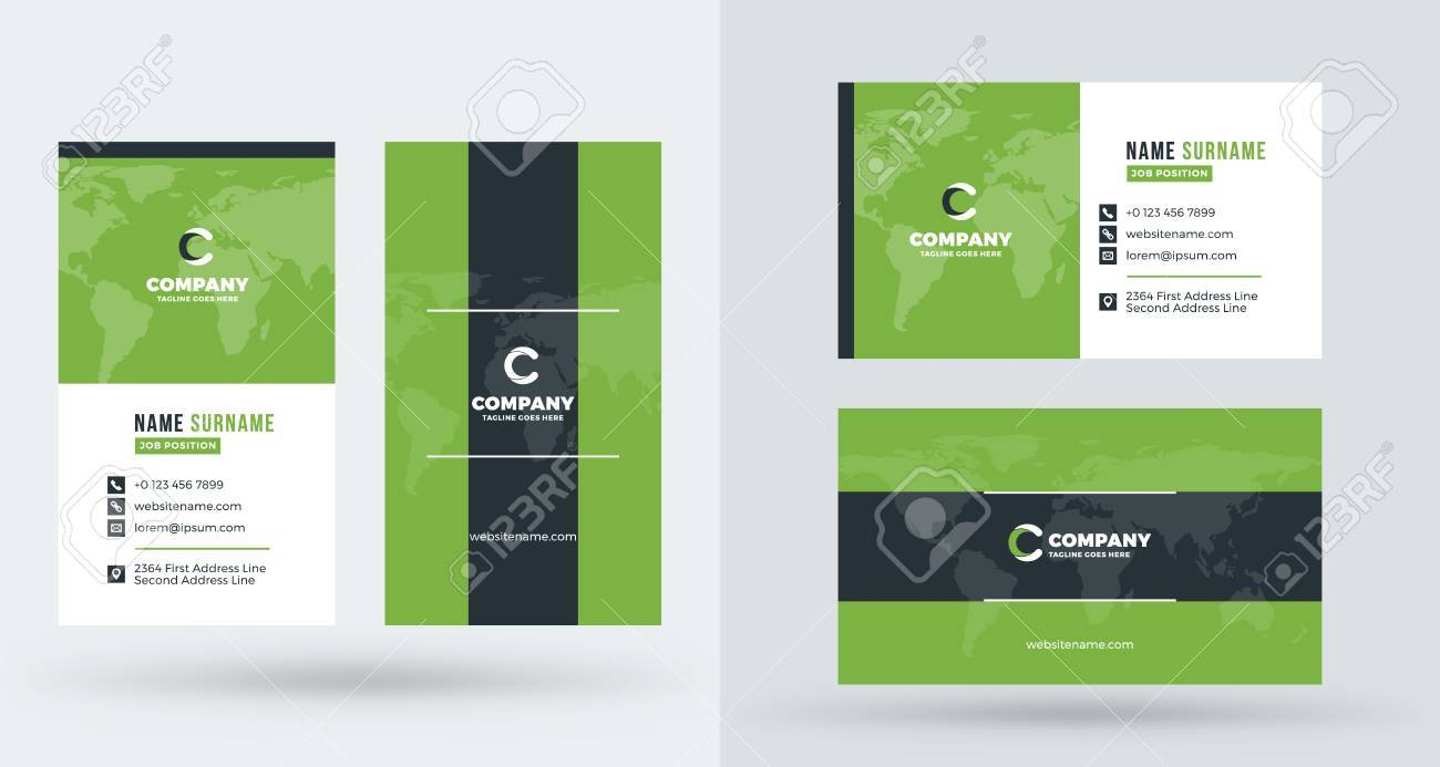 Double sided creative business card template portrait and landscape double sided creative business card template portrait and landscape orientation horizontal and vertical friedricerecipe Choice Image