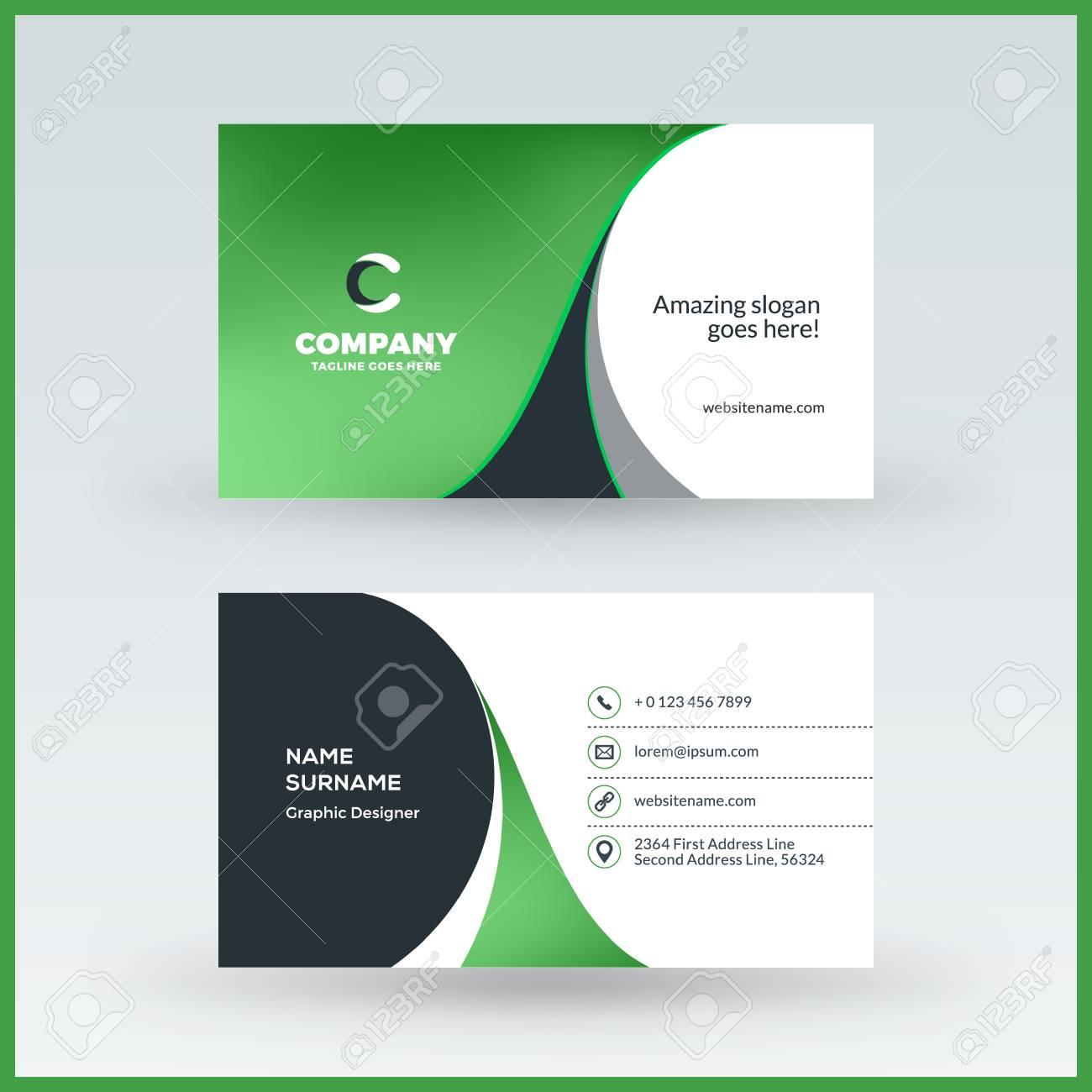 horizontal business card