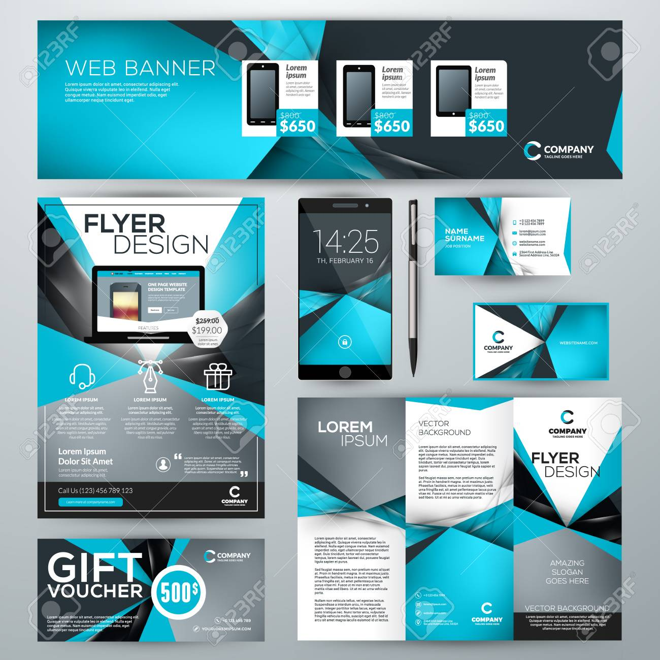 Set of stationery design templates corporate identity with abstract set of stationery design templates corporate identity with abstract vector background web banner cheaphphosting Image collections