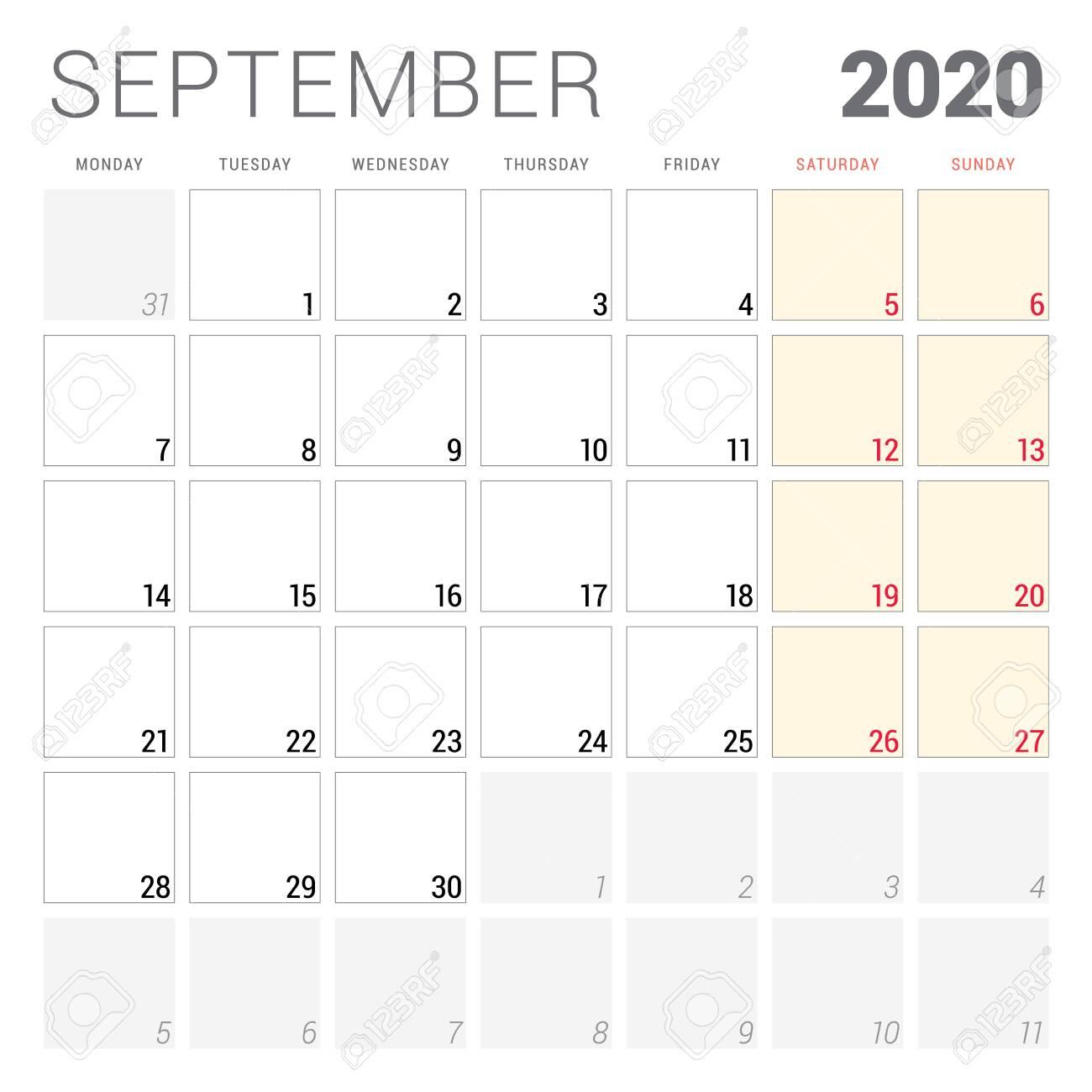 28+ Free Printable Editable Planner Free Printable Editable September 2020 Calendar Printable PNG