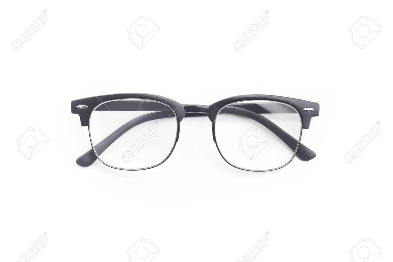 Black Eye Glasses Isolated On A White Background Accessory Improvement