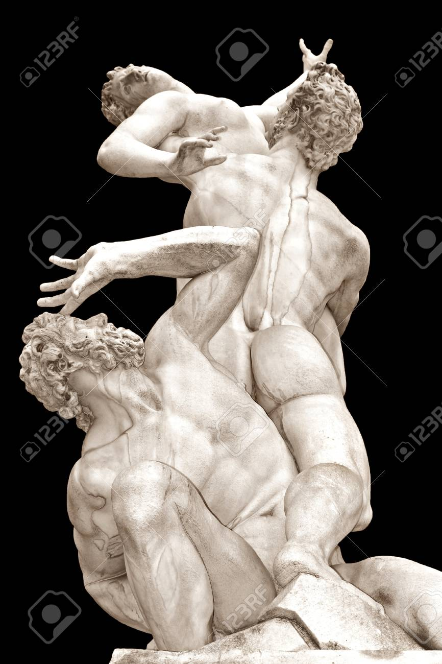 The Rape of the Sabine Women by Giambologna Loggia in Piazza della Signoria, Florence, Italy - 27281520