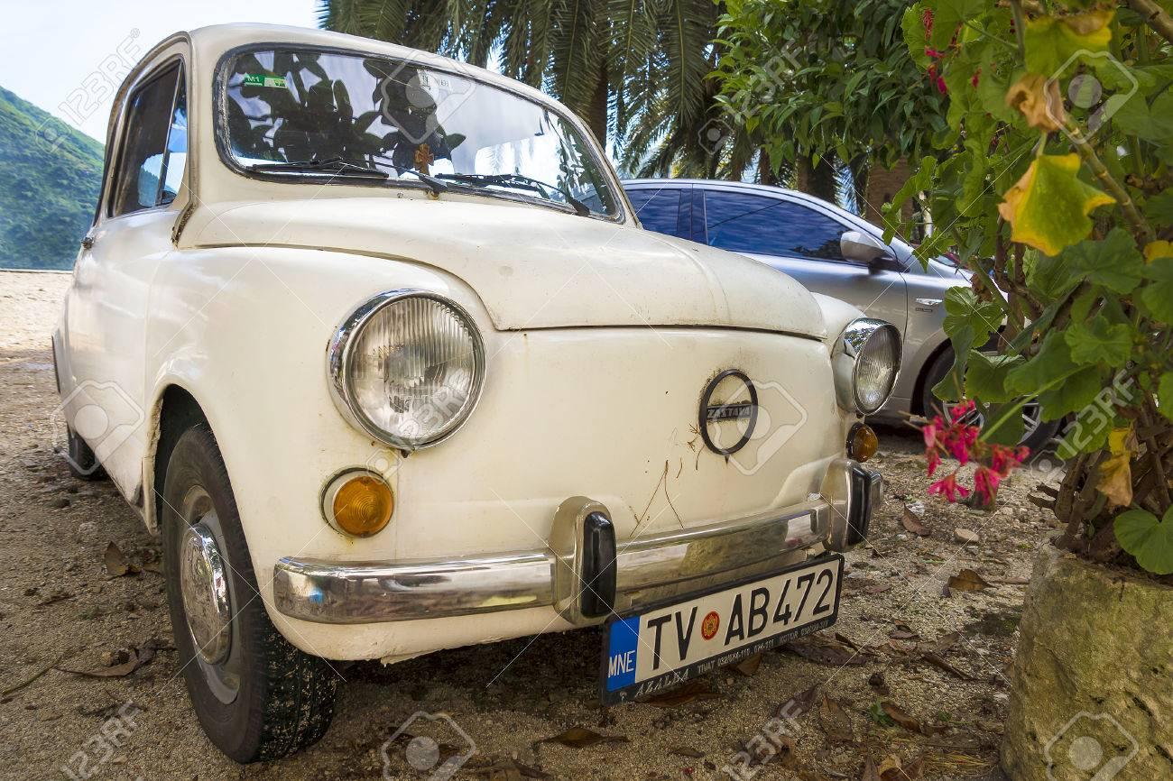 PERAST, MONTENEGRO: AUGUST-27. A Retro The Zastava Car On Perast ...