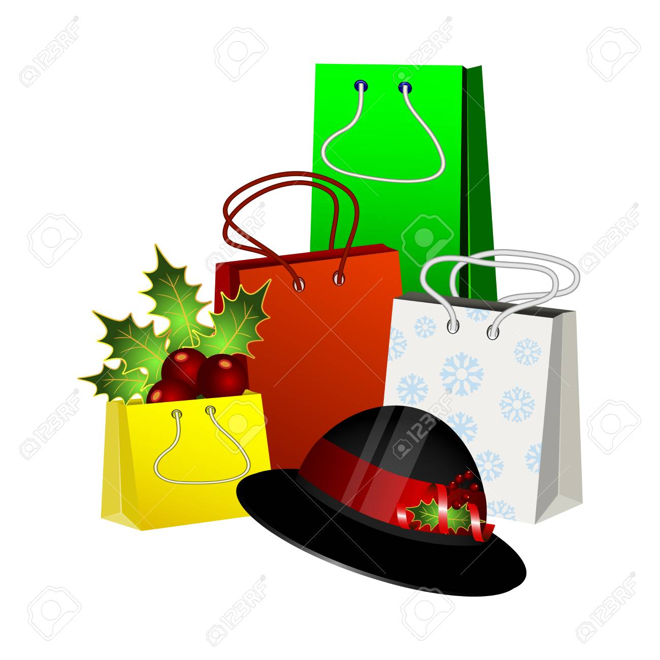 Christmas Gift Packages.Christmas Gift Packages With A Hat