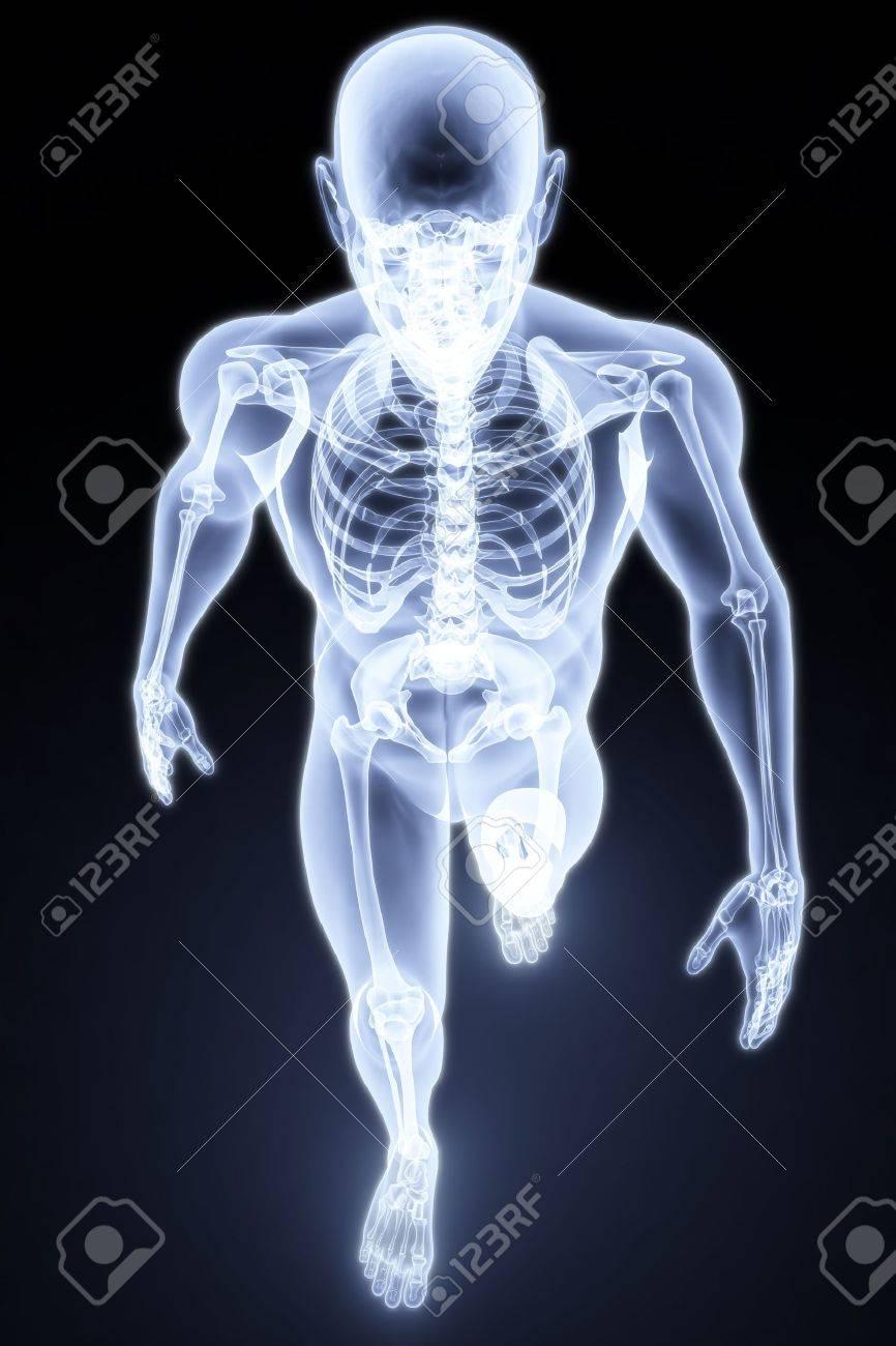 walking man under X-rays. 3d render. Stock Photo - 6682303