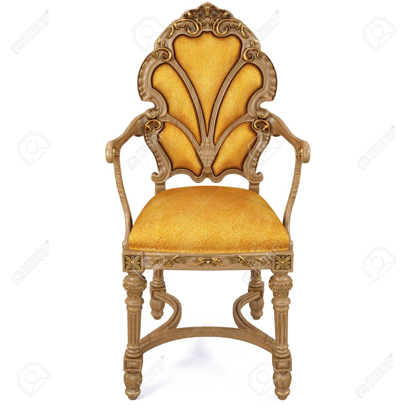 beautiful classic chair. isolated on white. Stock Photo - 7311457