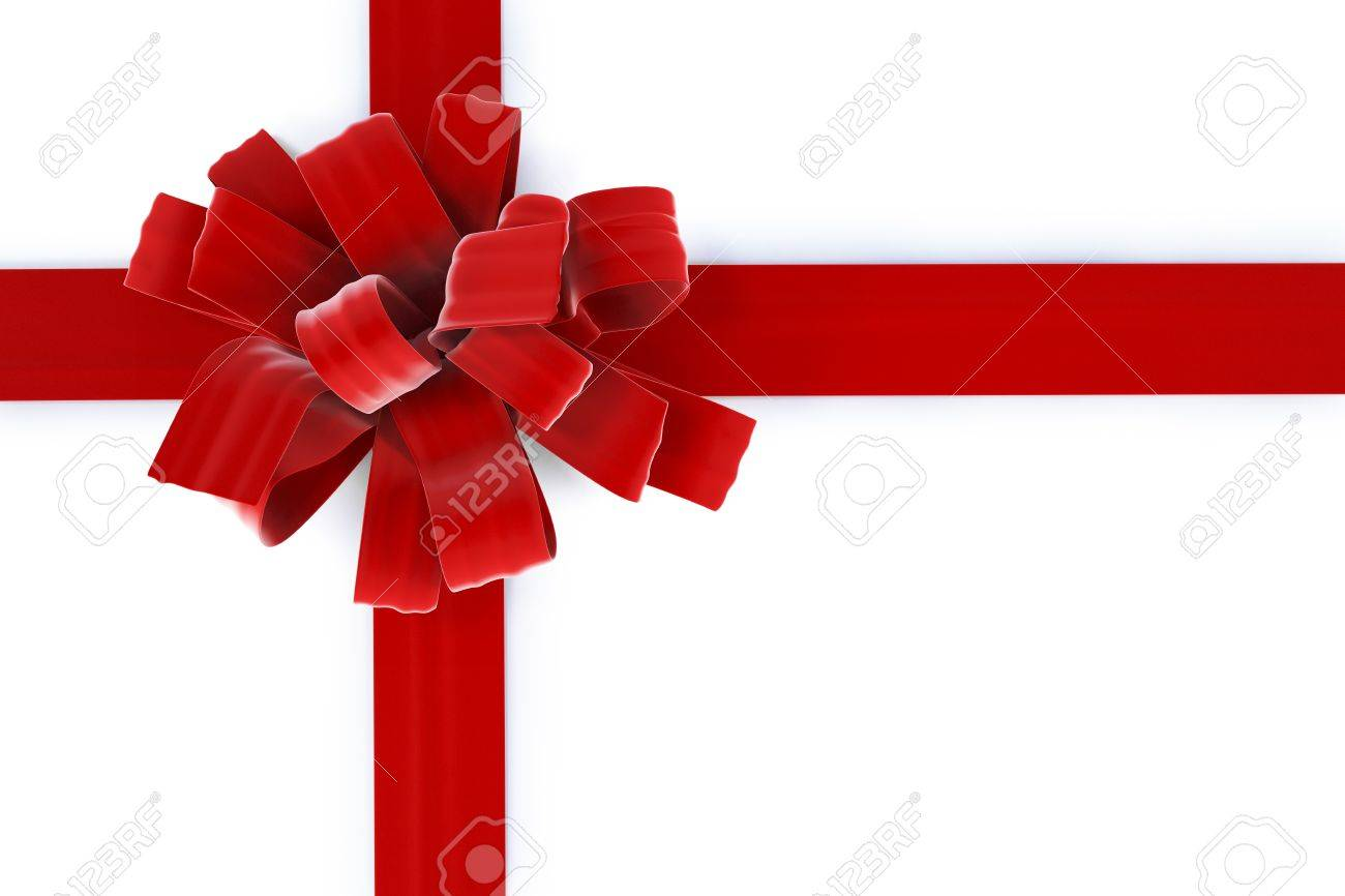 beautiful bow with a ribbon. isolated on white Stock Photo - 7751033