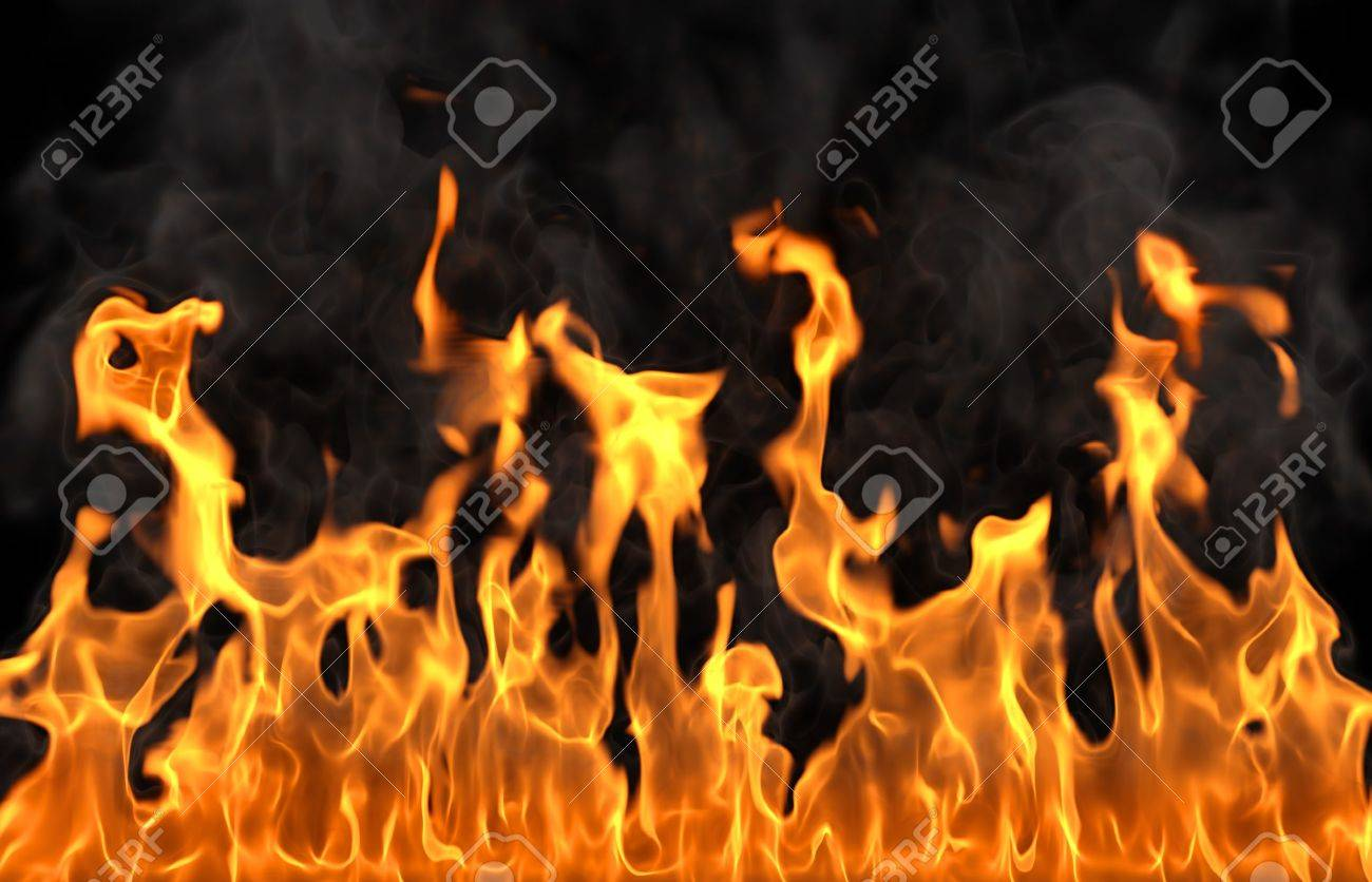 fire isolated on black Stock Photo - 9389938