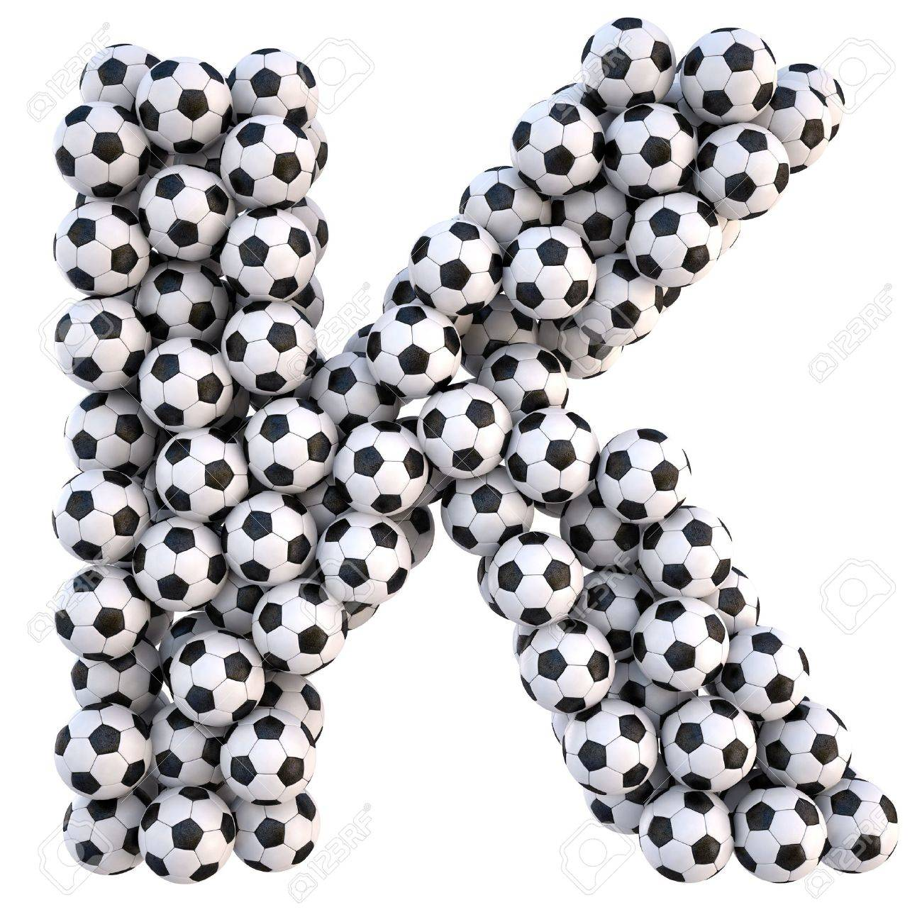 soccer balls in the form of letters. isolated on white. Stock Photo - 9523049
