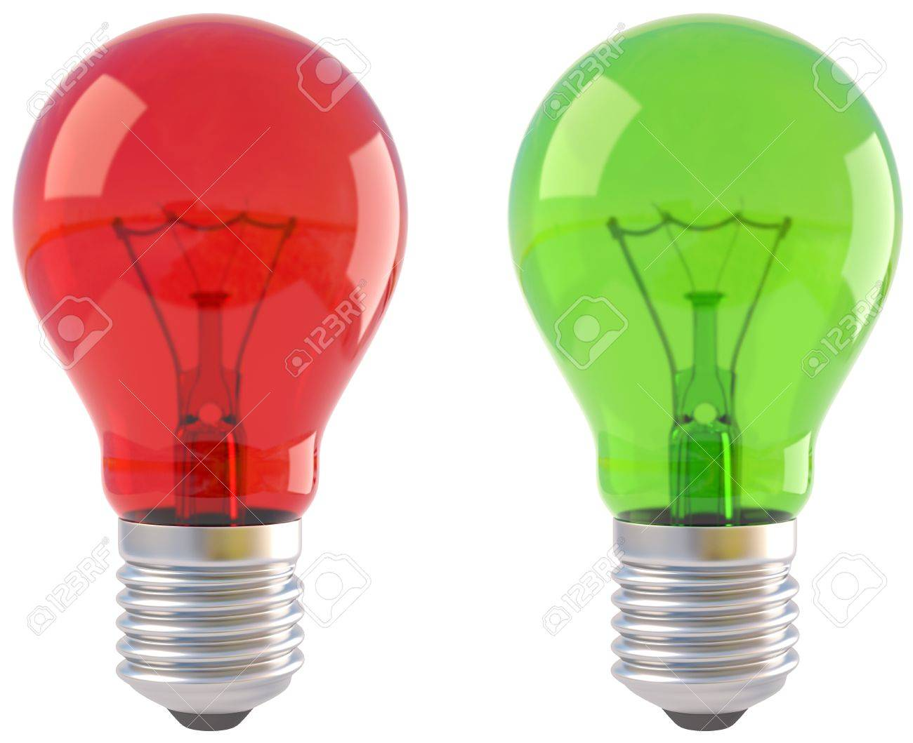 dark free led on image royalty glowing green a bulb economical vector light