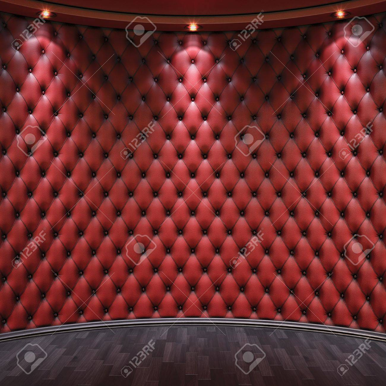 luxurious interior with leather walls and wooden parquet. Stock Photo - 12309804