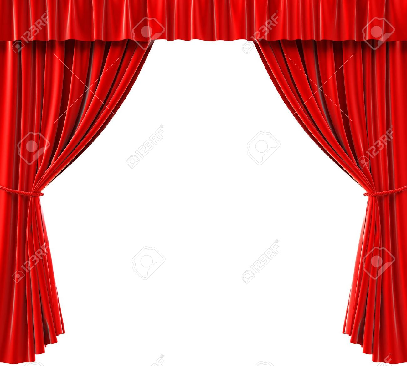 Royalty free or white curtain background drapes royalty free stock - Red Curtains On A White Background Stock Photo 15362492